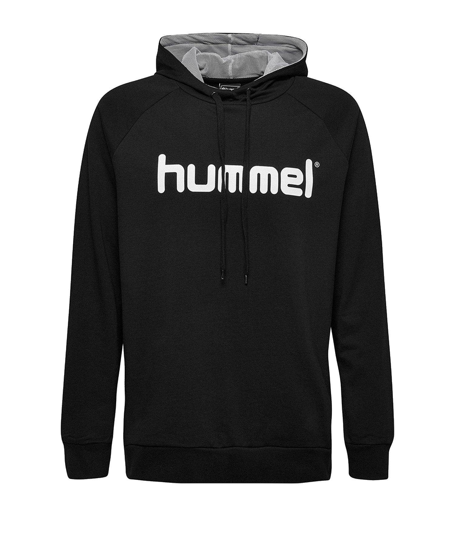 Hummel Cotton Logo Hoody Kids Schwarz F2001 - Schwarz