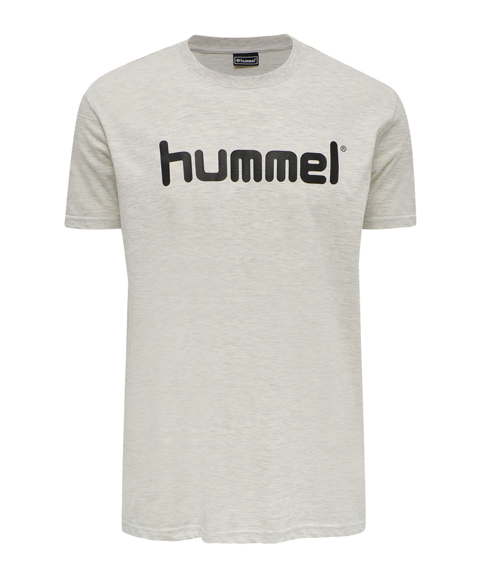 Hummel Cotton T-Shirt Logo Beige F9158 - beige