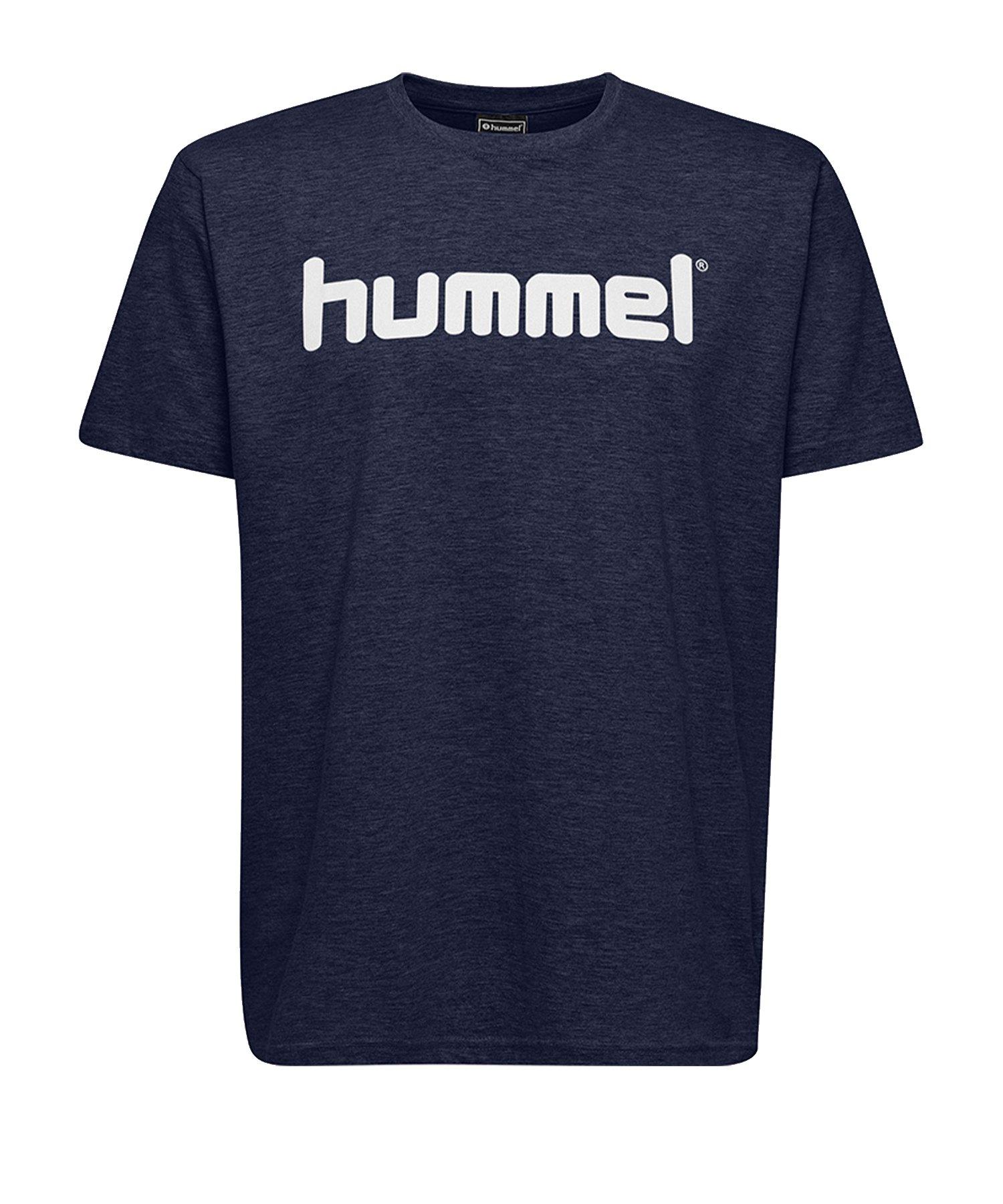 Hummel Cotton T-Shirt Logo Blau F7026 - Blau