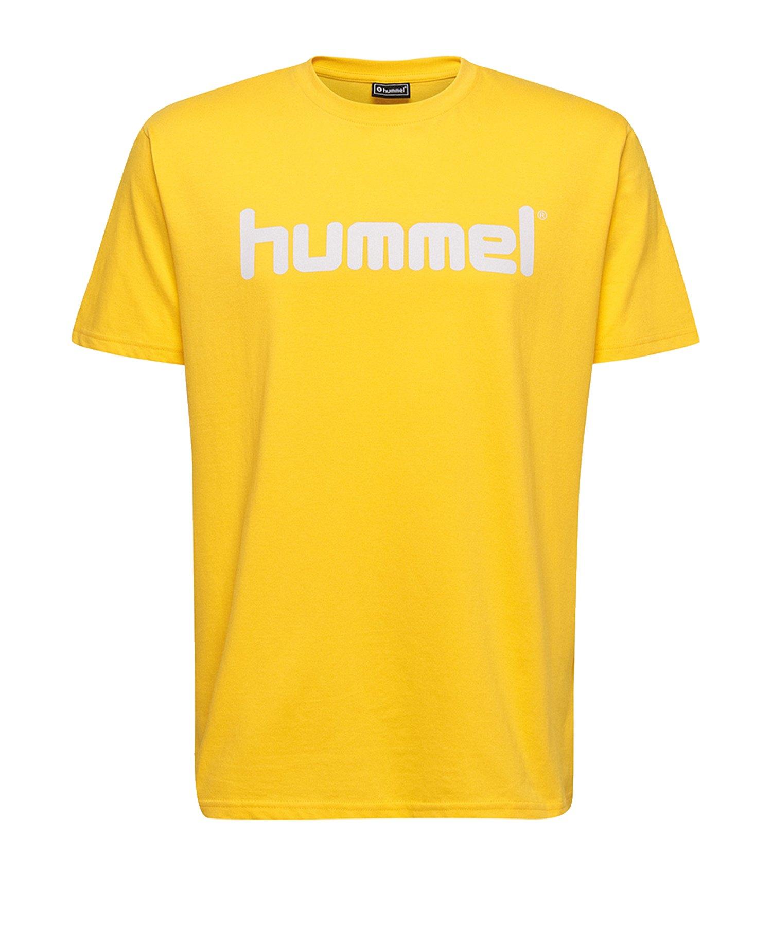 Hummel Cotton T-Shirt Logo Gelb F5001 - Gelb