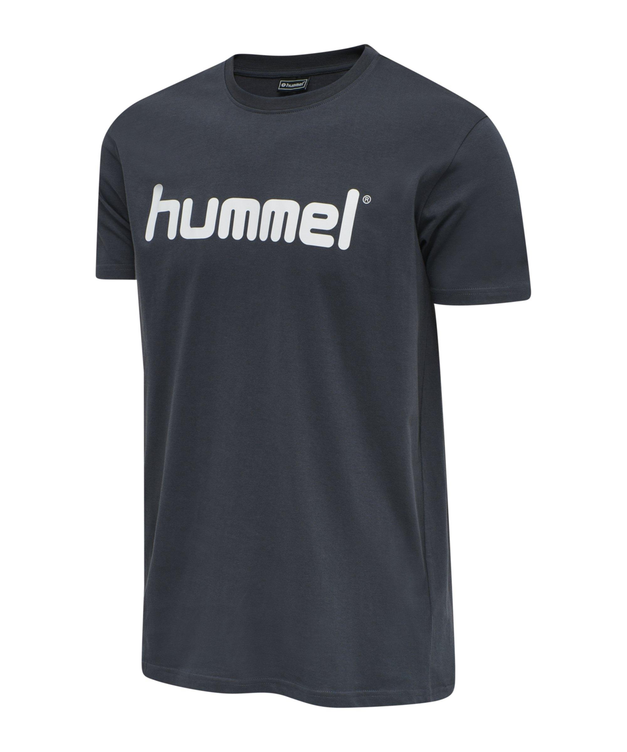 Hummel Cotton T-Shirt Logo Grau F8571 - grau