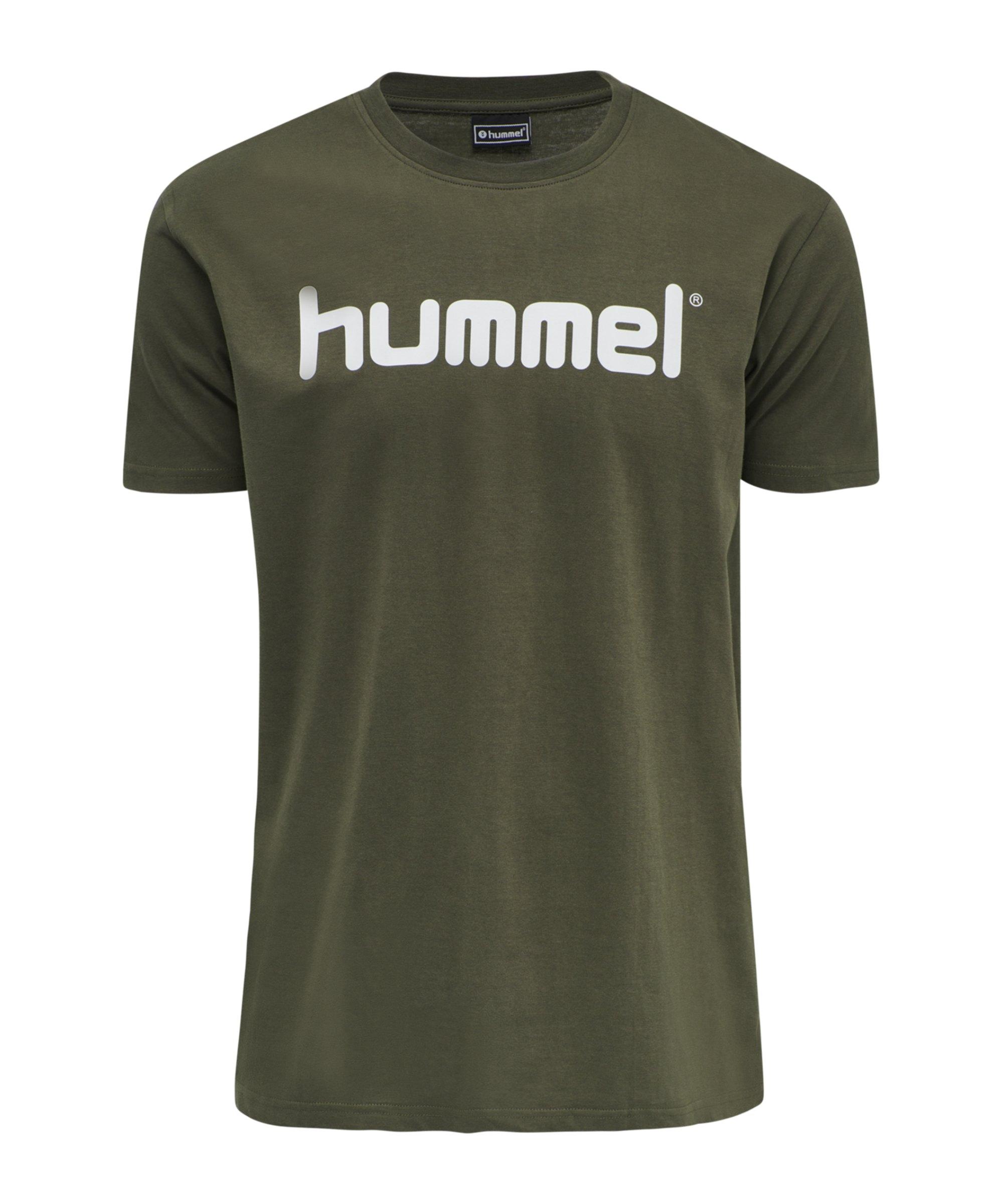Hummel Cotton T-Shirt Logo Grün F6084 - gruen