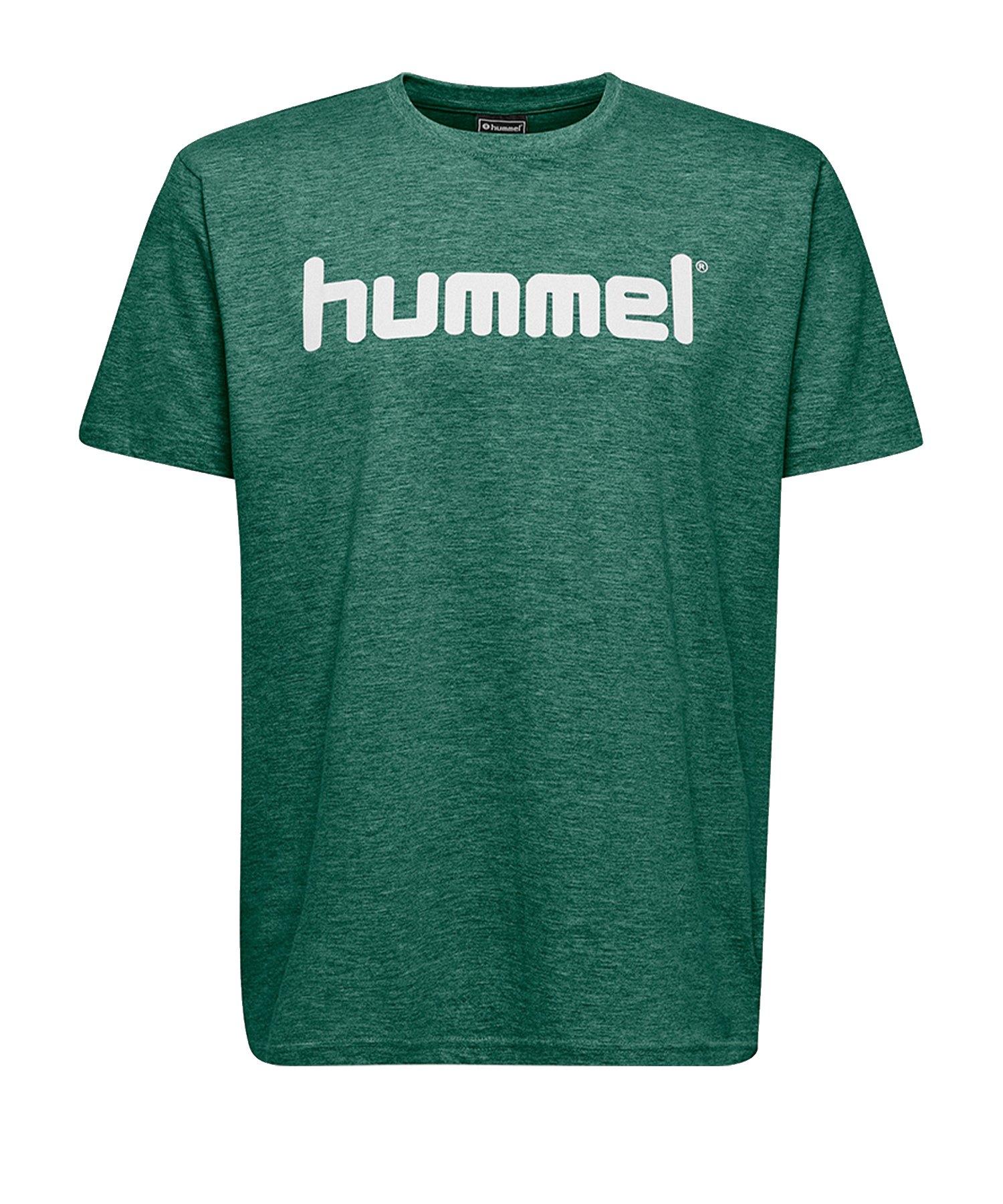 Hummel Cotton T-Shirt Logo Grün F6140 - Gruen