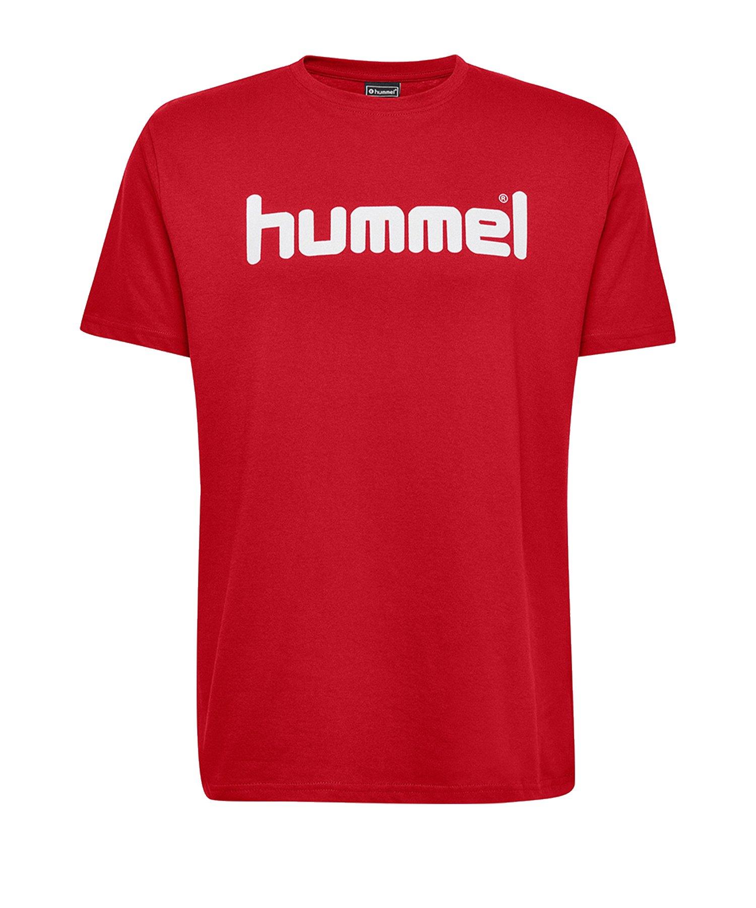 Hummel Cotton T-Shirt Logo Rot F3062 - Rot