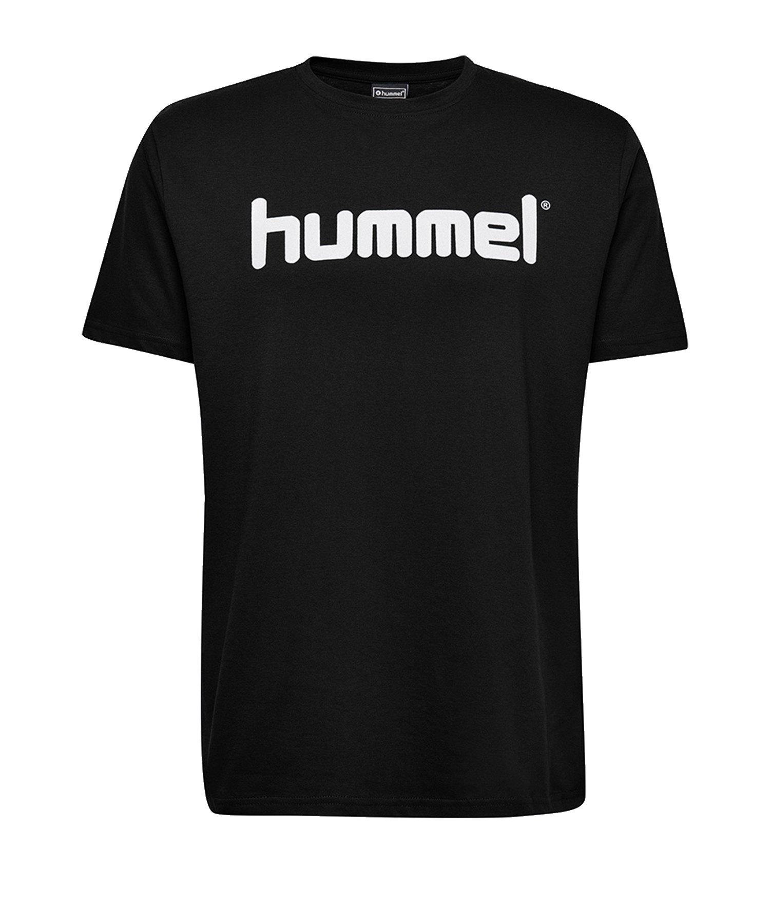 Hummel Cotton T-Shirt Logo Schwarz F2001 - Schwarz