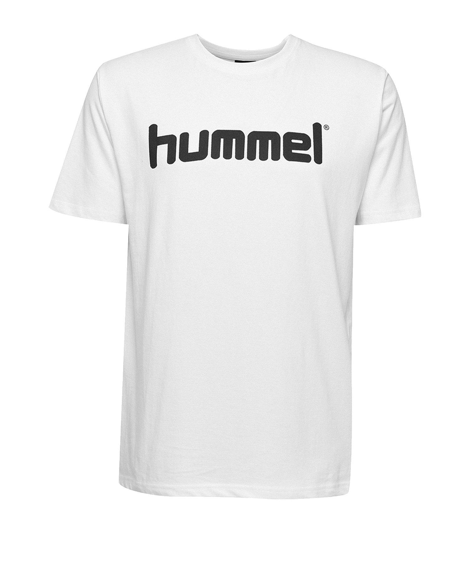 Hummel Cotton T-Shirt Logo Weiss F9001 - Weiss