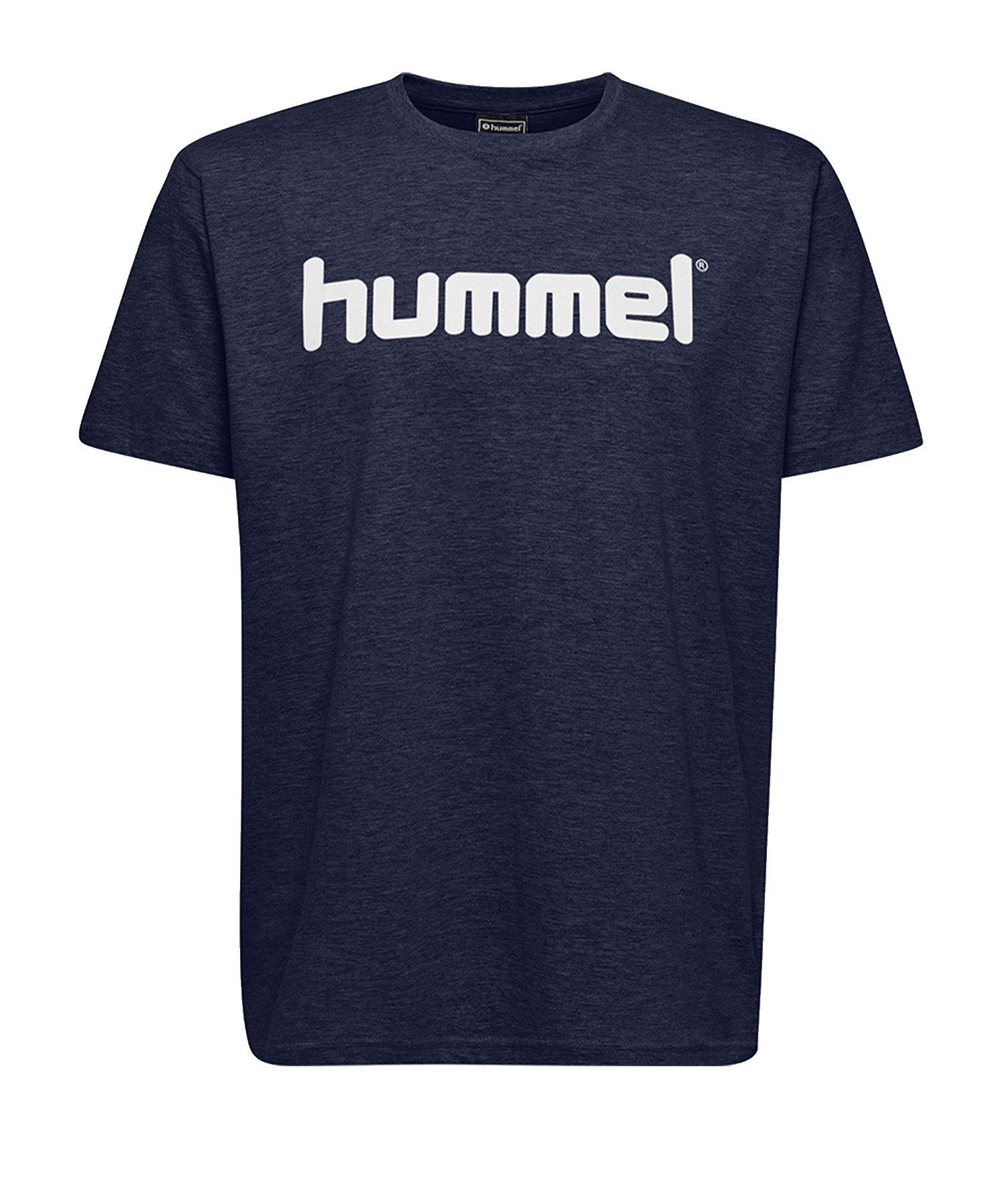 Hummel Cotton T-Shirt Logo Kids Blau F7026 - Blau
