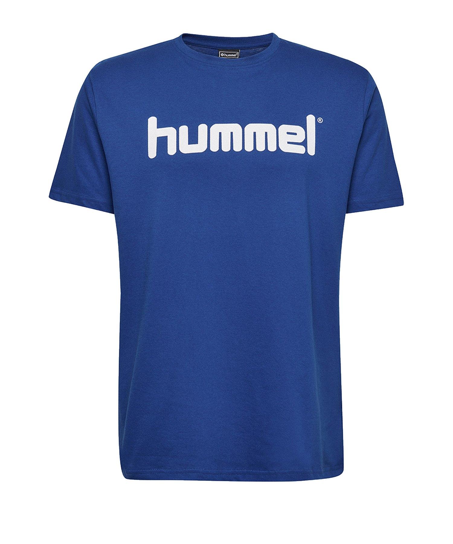 Hummel Cotton T-Shirt Logo Kids Blau F7045 - Blau