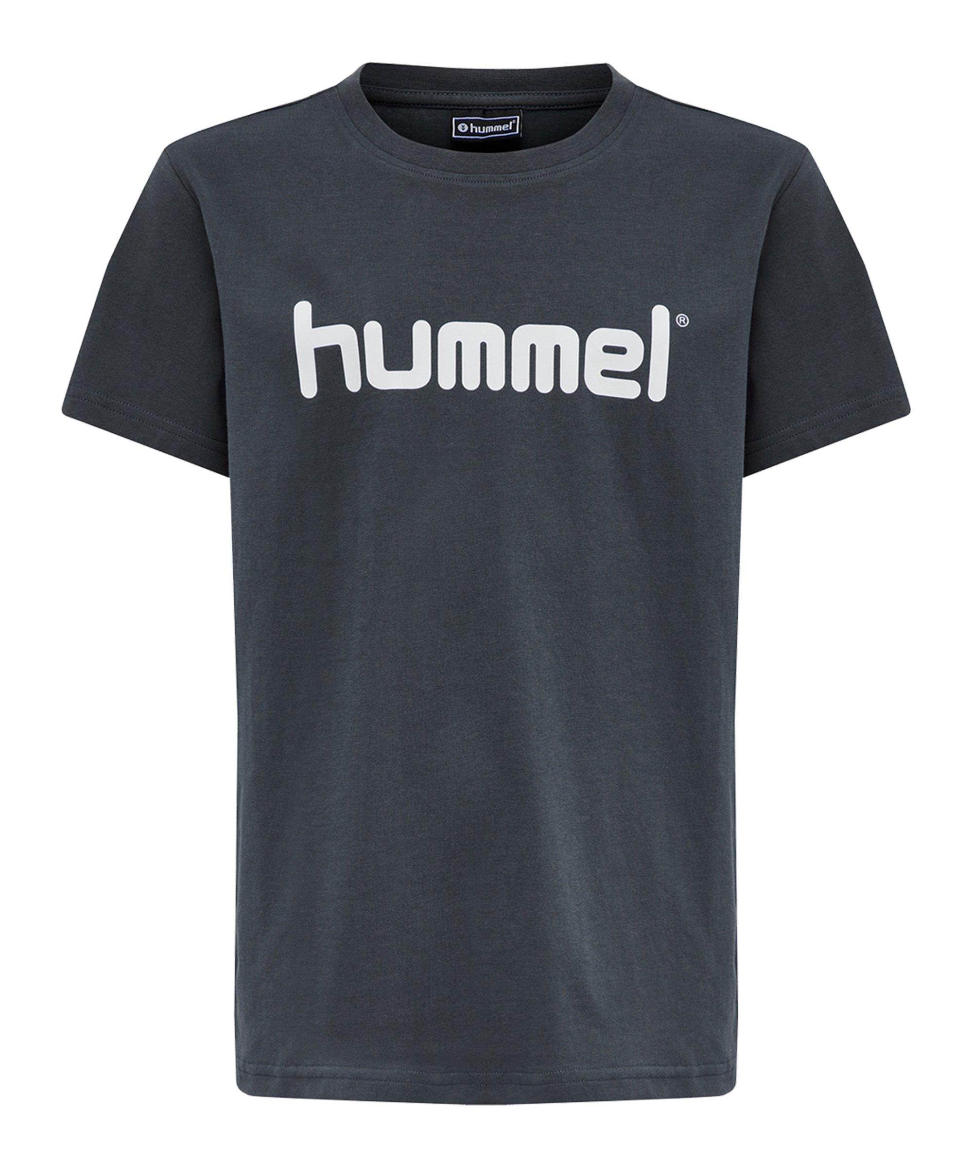 Hummel Cotton T-Shirt Logo Kids Grau F8571 - grau