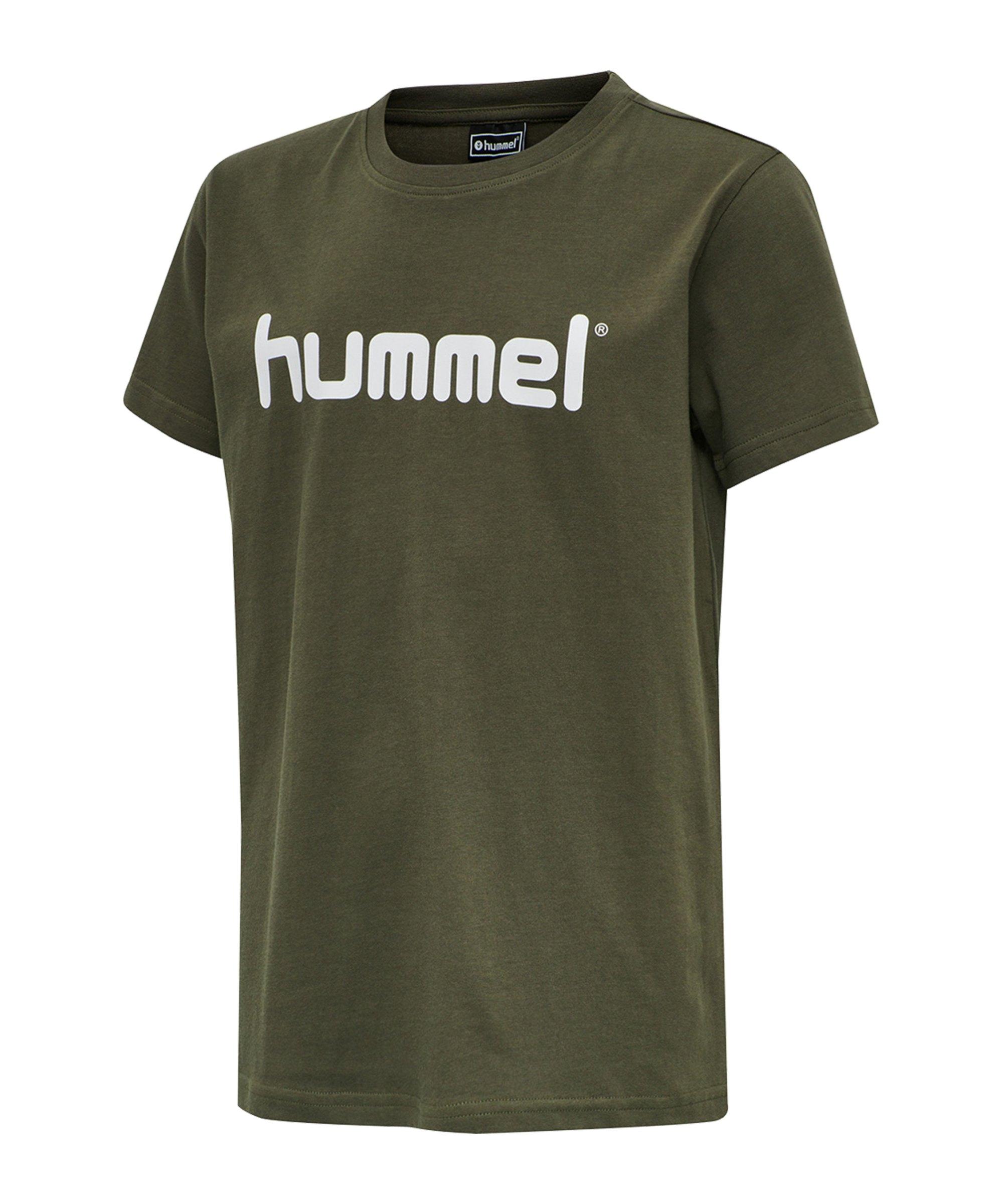 Hummel Cotton T-Shirt Logo Kids Grün F6084 - gruen