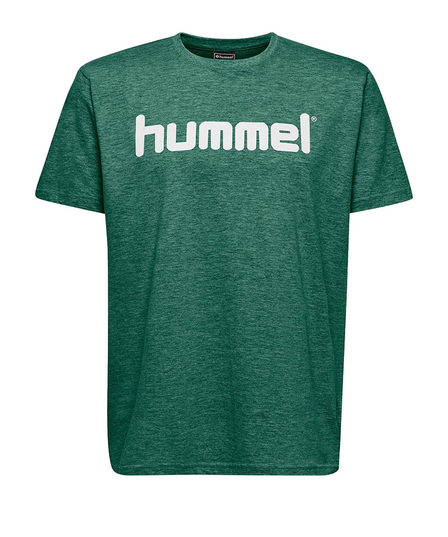 Hummel Cotton T-Shirt Logo Kids Grün F6140 - Gruen