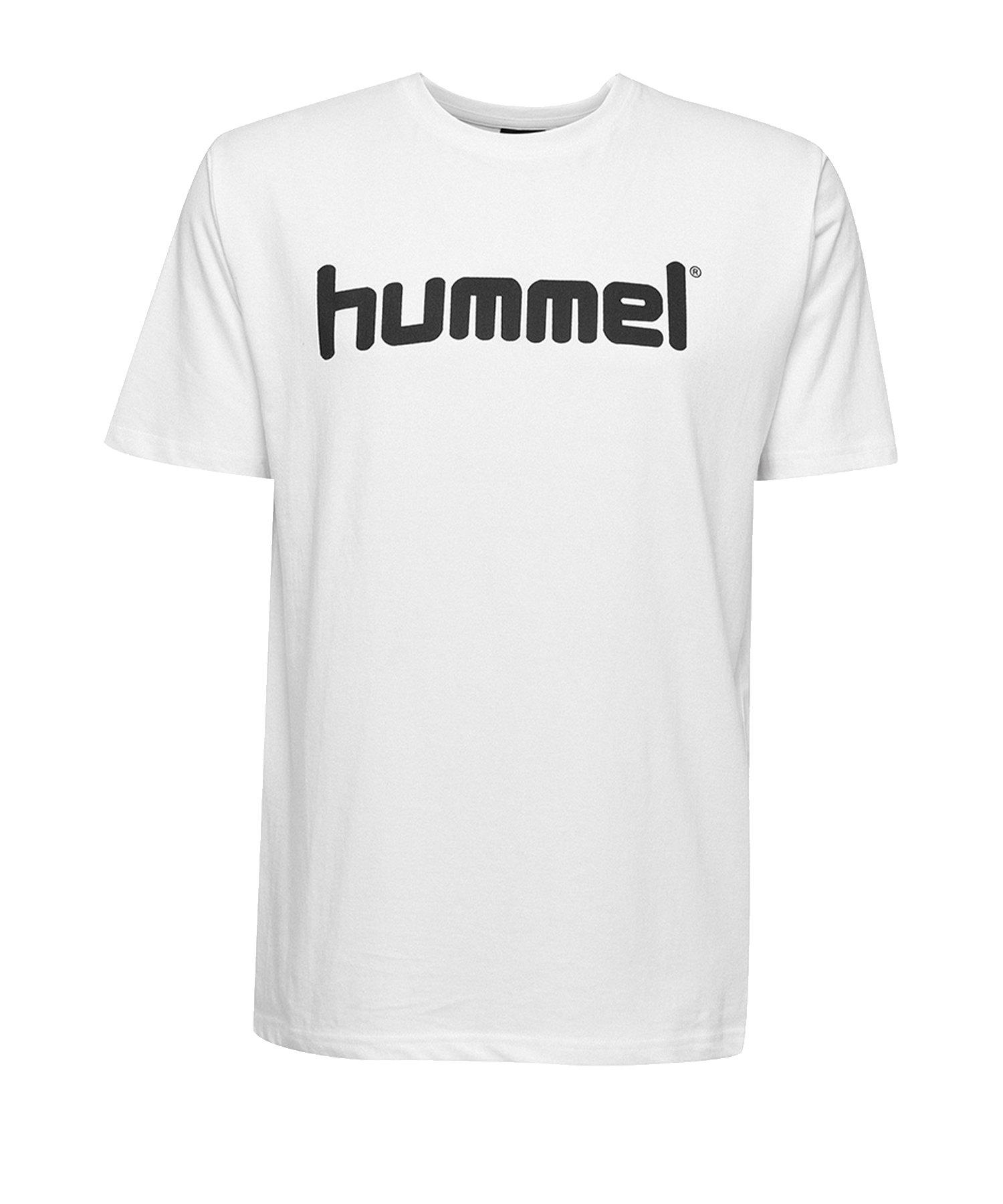 Hummel Cotton T-Shirt Logo Kids Weiss F9001 - Weiss