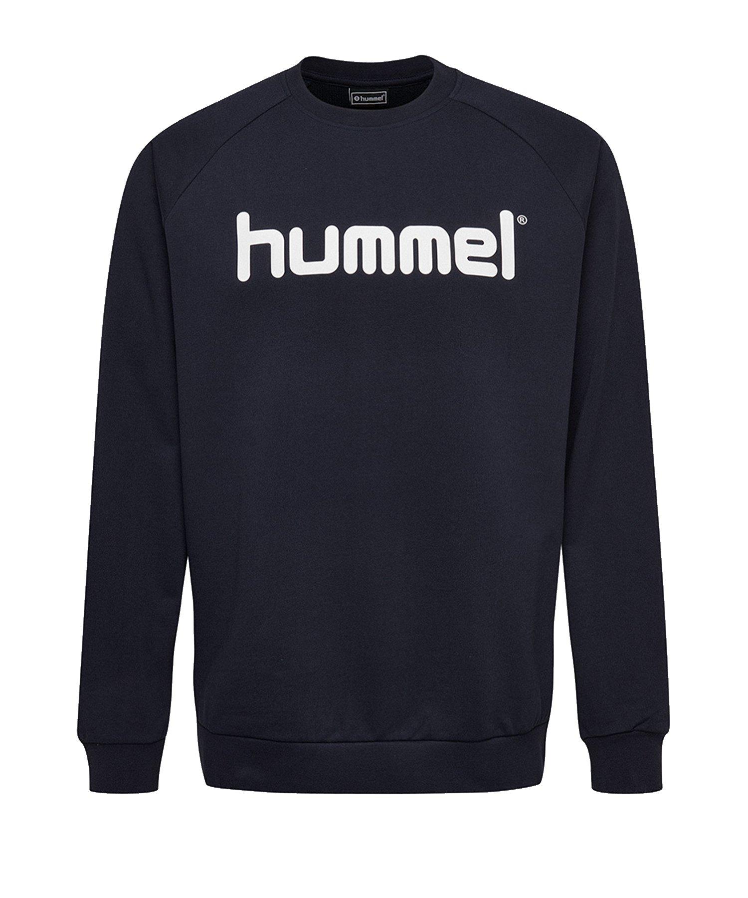 Hummel Cotton Logo Sweatshirt Blau F7026 - Blau