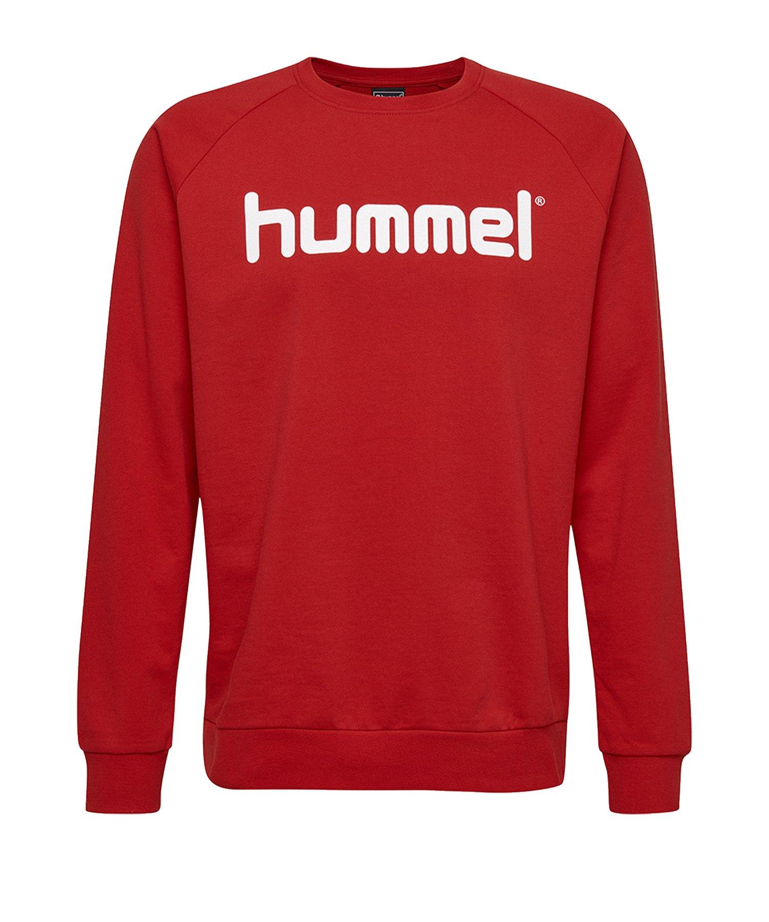 Hummel Cotton Logo Sweatshirt Rot F3062 - Rot
