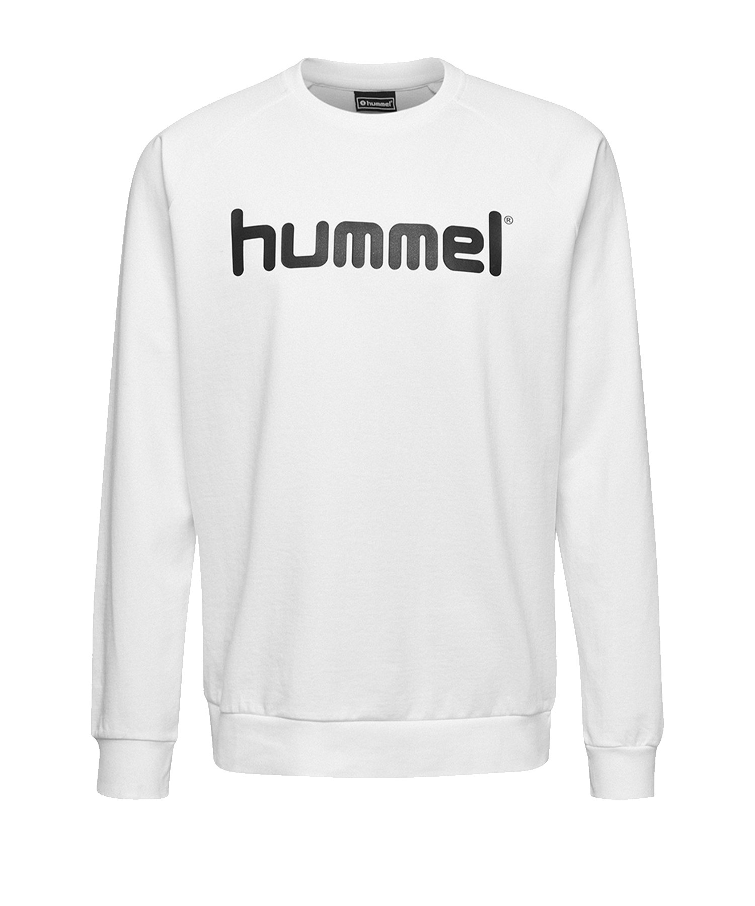 Hummel Cotton Logo Sweatshirt Weiss F9001 - Weiss