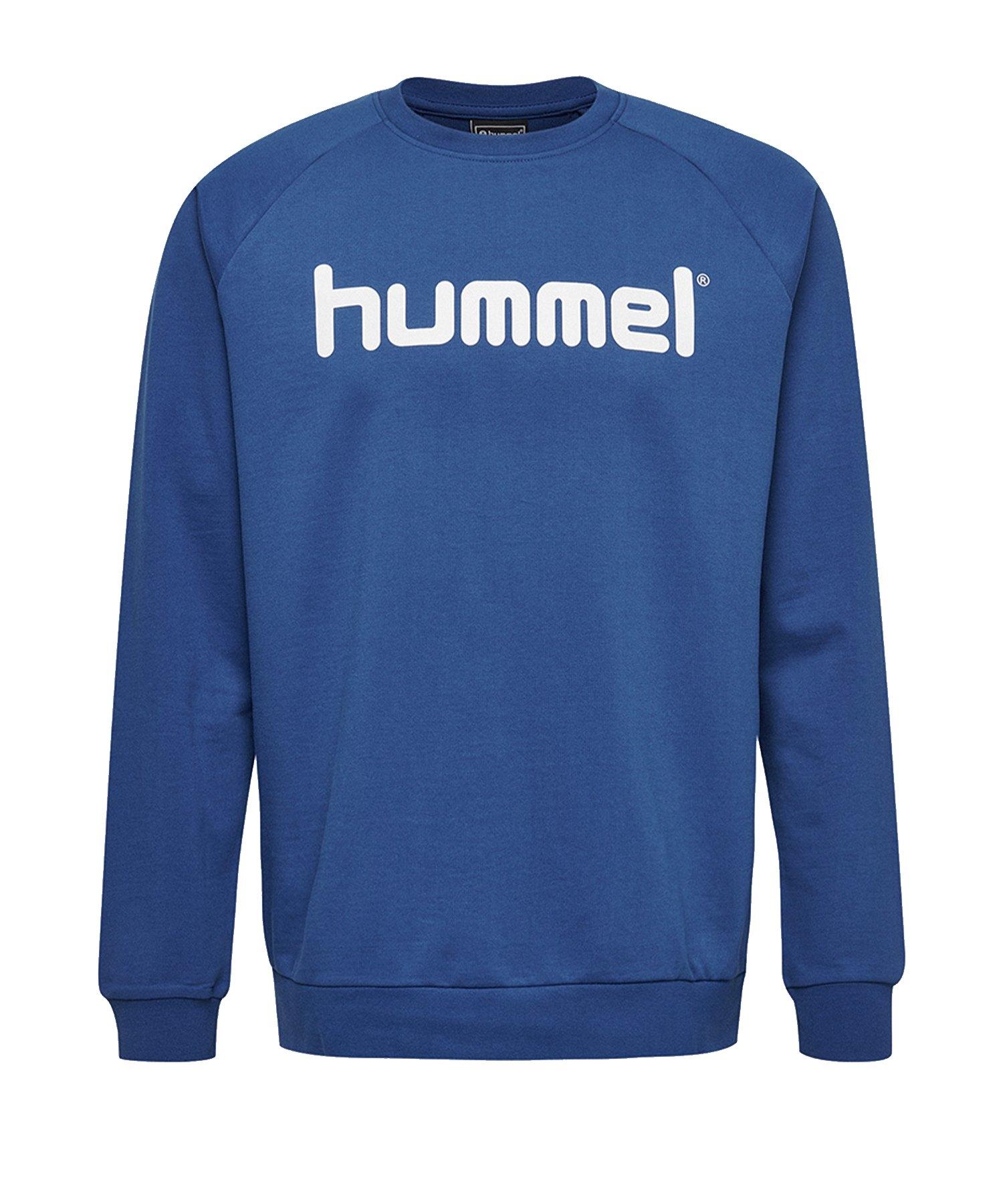 Hummel Cotton Logo Sweatshirt Kids Blau F7045 - Blau