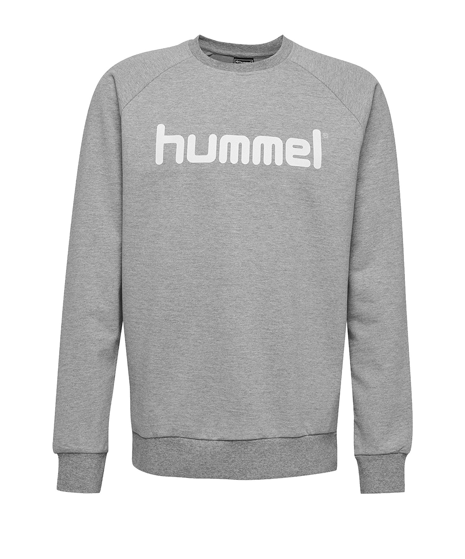 Hummel Cotton Logo Sweatshirt Kids Grau F2006 - Grau