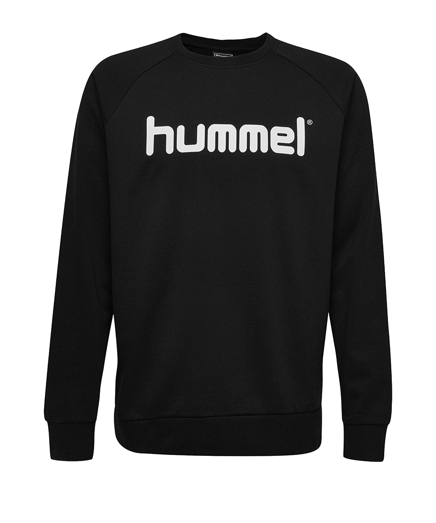 Hummel Cotton Logo Sweatshirt Kids Schwarz F2001 - Schwarz