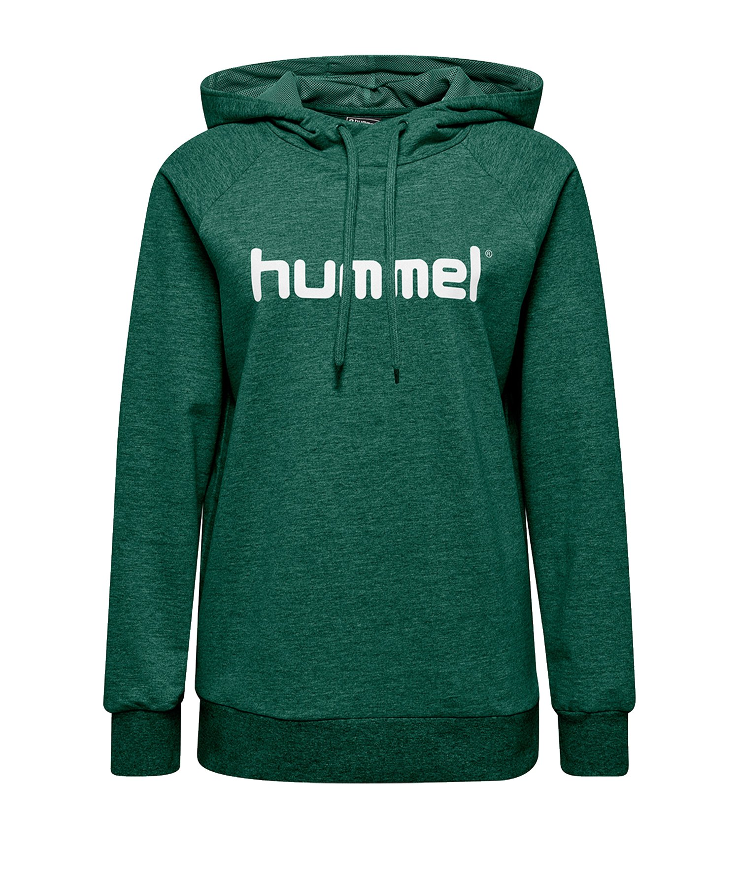 Hummel Cotton Logo Hoody Damen Grün F6140 - Gruen