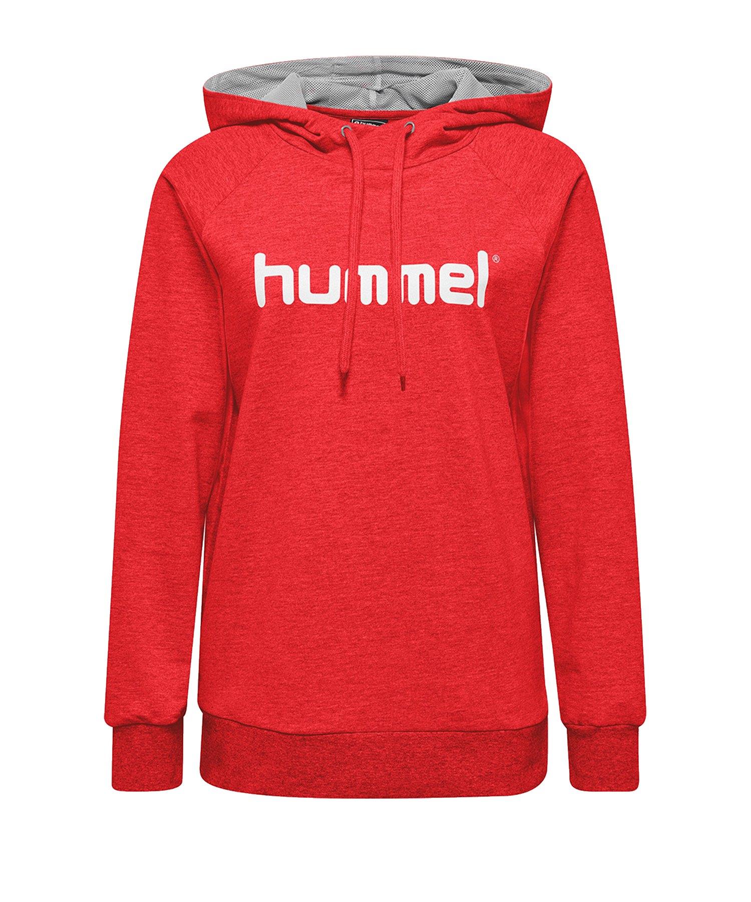 Hummel Cotton Logo Hoody Damen Rot F3062 - Rot