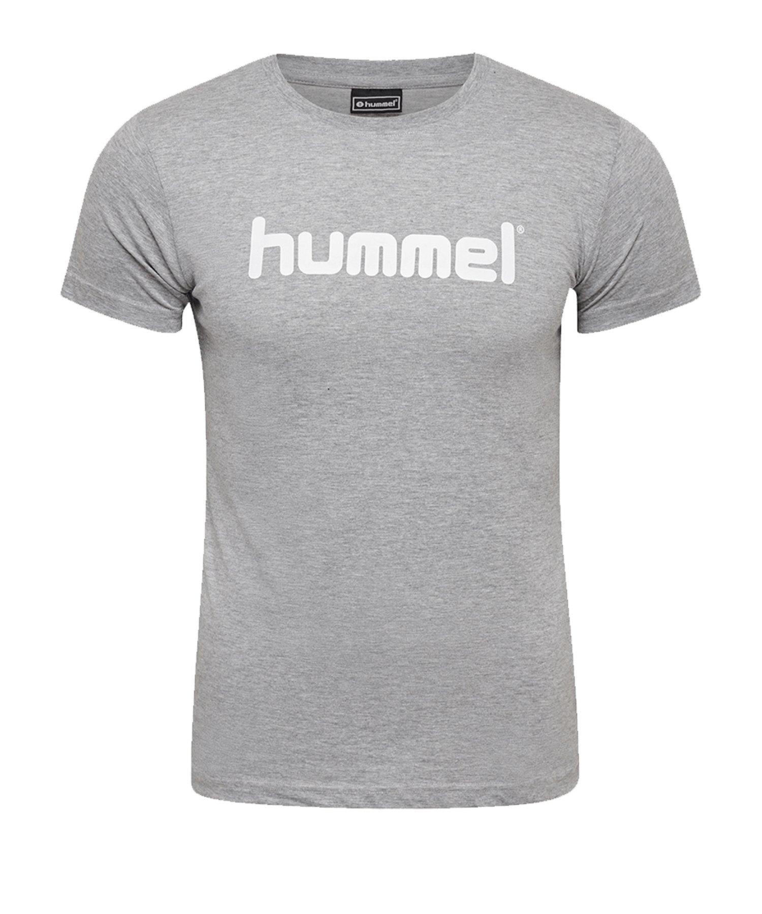 Hummel Cotton T-Shirt Logo Damen Grau F2006 - Grau