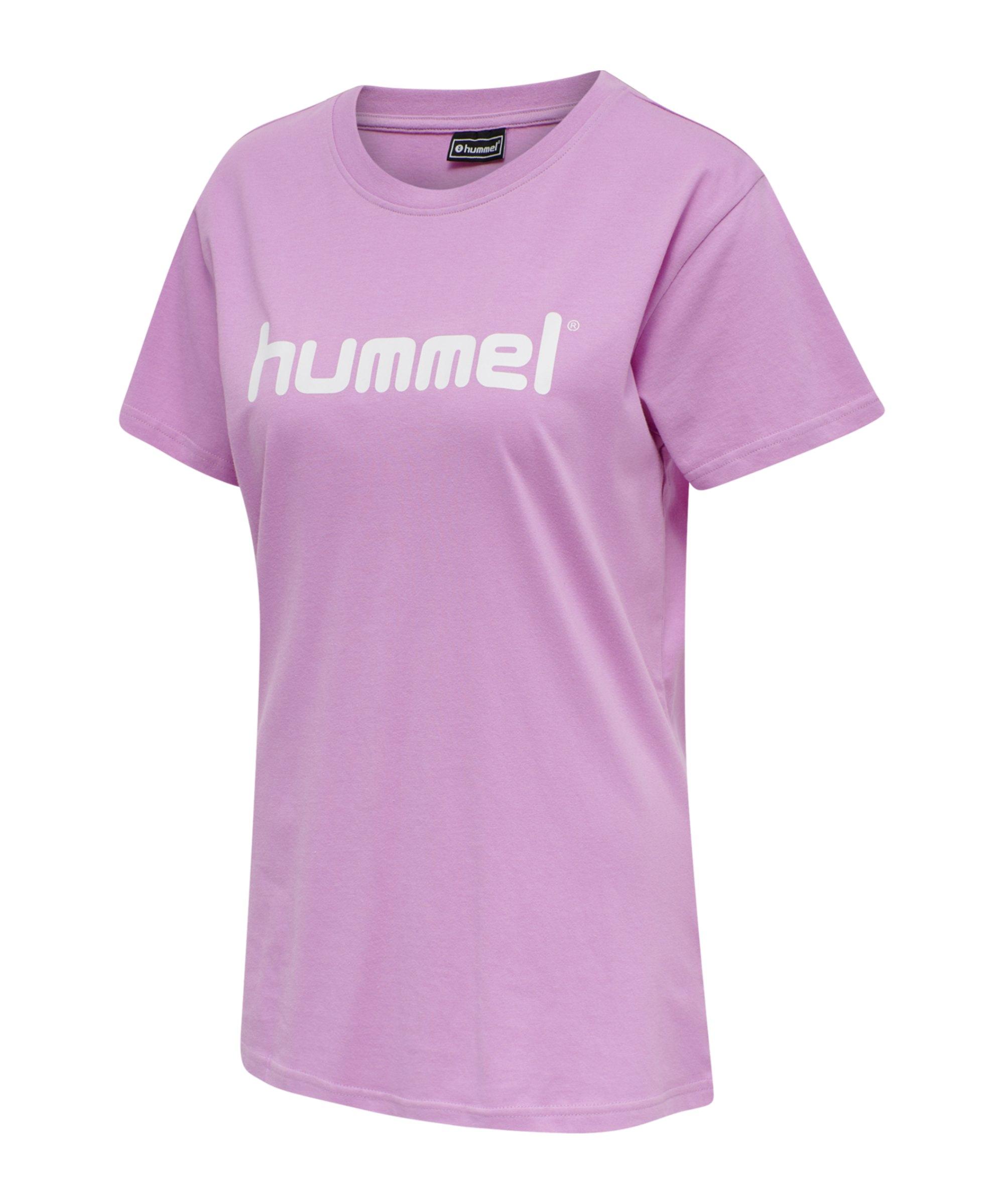 Hummel Cotton T-Shirt Logo Damen Lila F3415 - lila