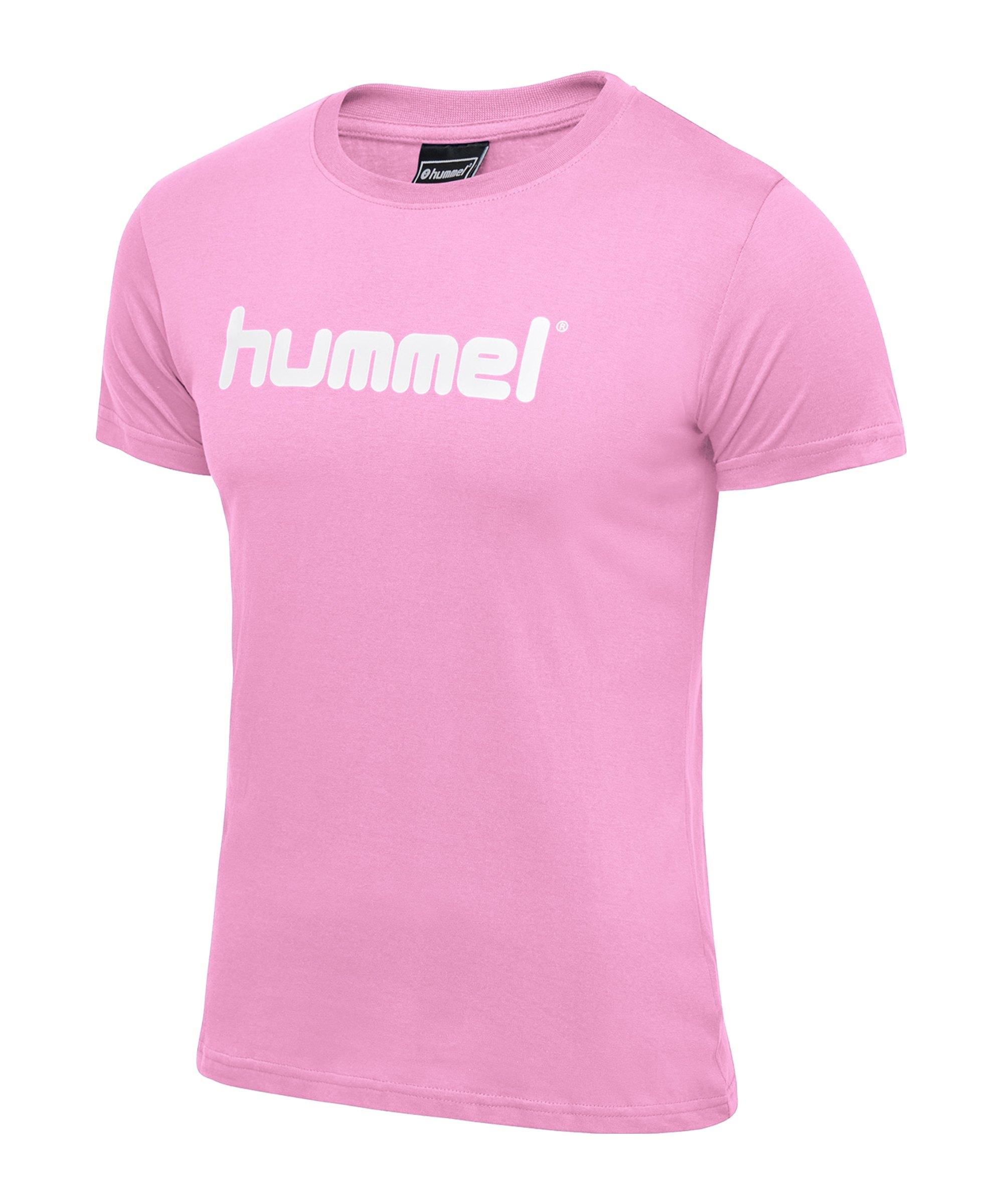 Hummel Cotton T-Shirt Logo Damen Rosa F3257 - rosa