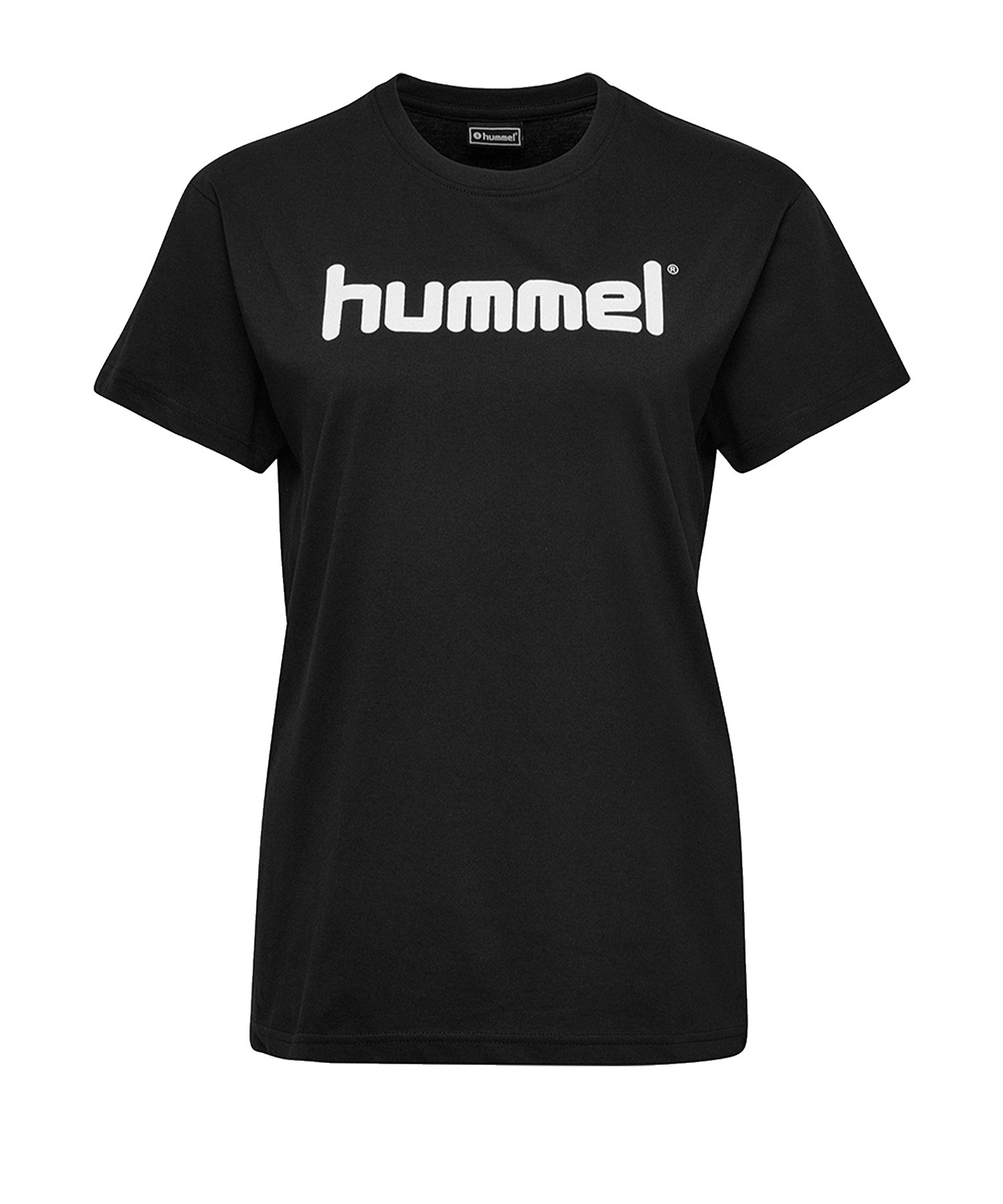 Hummel Cotton T-Shirt Logo Damen Schwarz F2001 - Schwarz