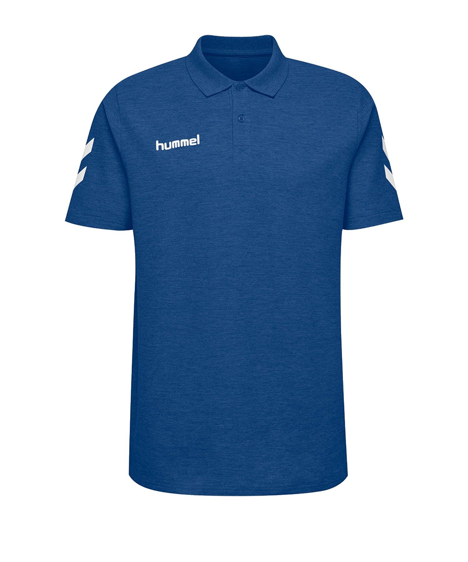 Hummel Cotton Poloshirt Blau F7045 - Blau