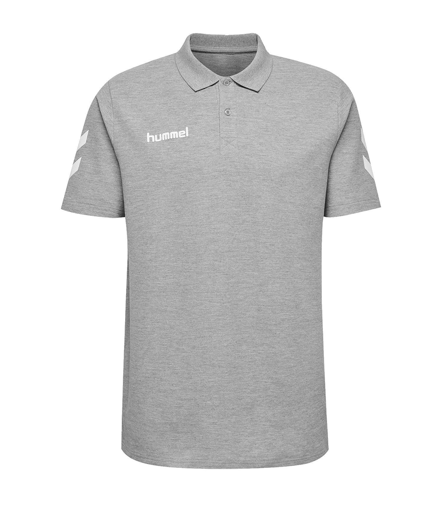 Hummel Cotton Poloshirt Grau F2006 - Grau