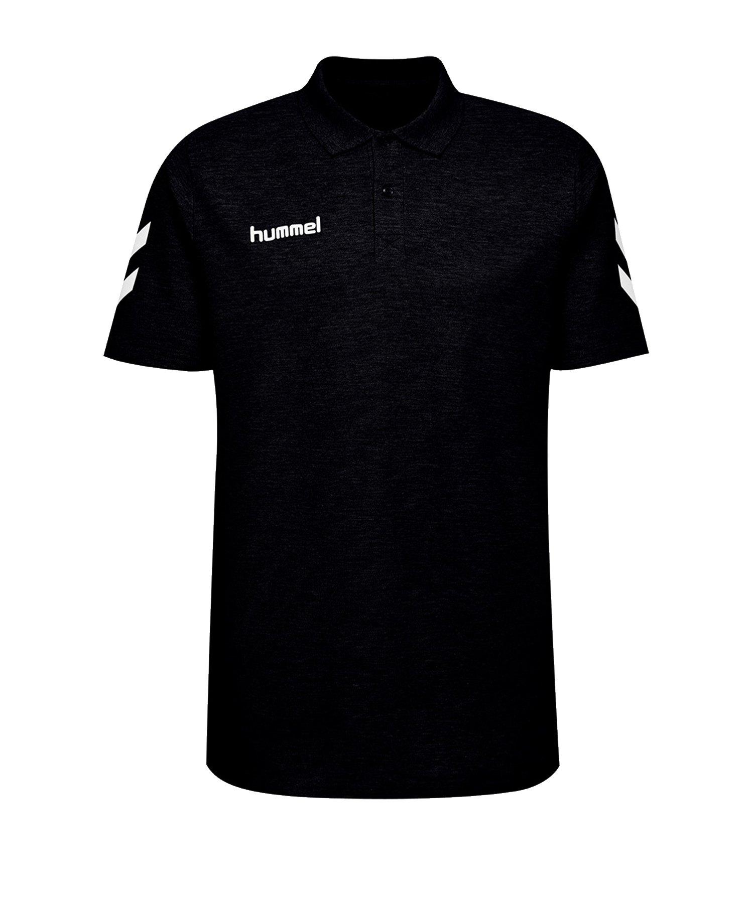 Hummel Cotton Poloshirt Schwarz F2001 - Schwarz