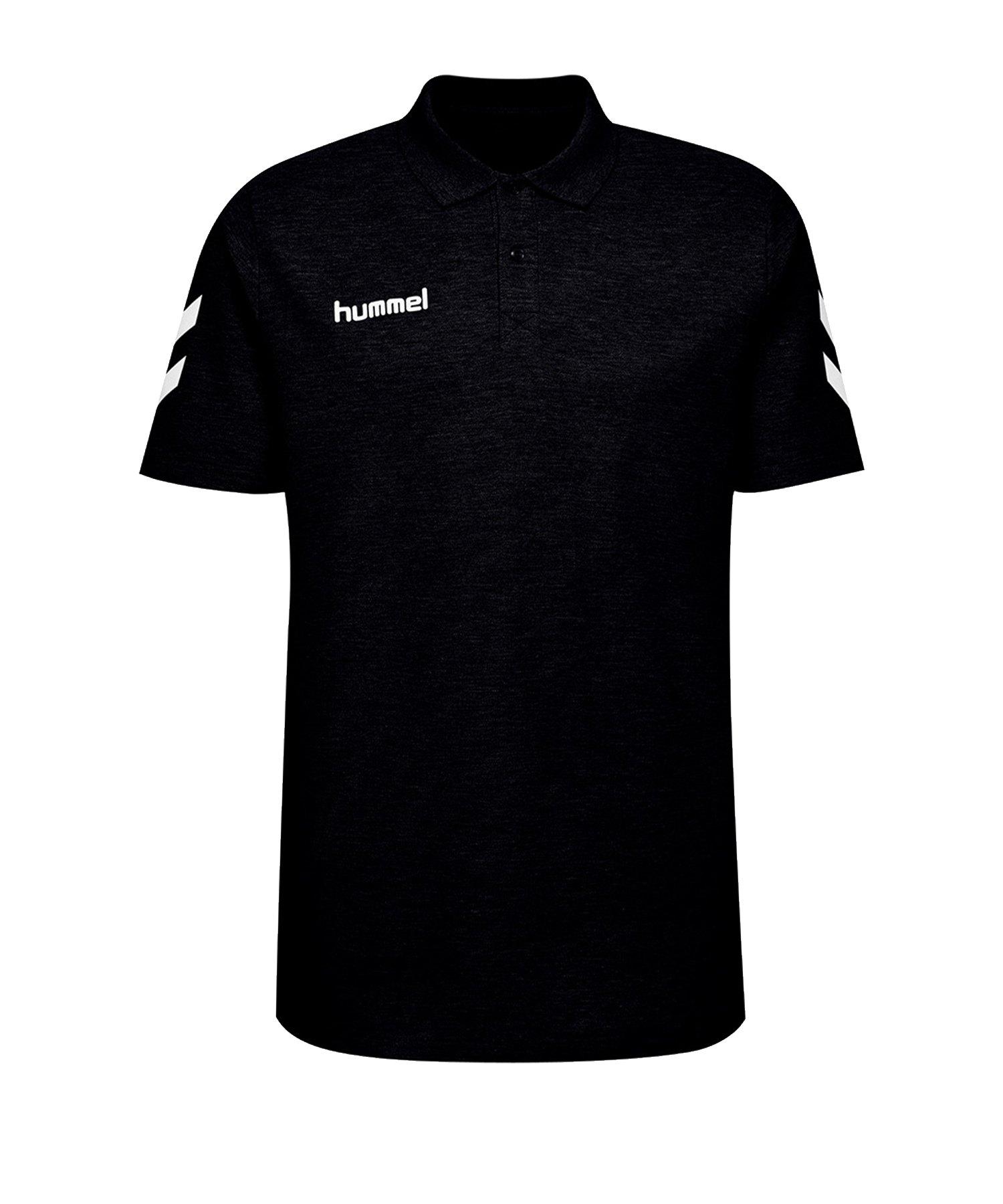 Hummel Cotton Poloshirt Kids Schwarz F2001 - Schwarz