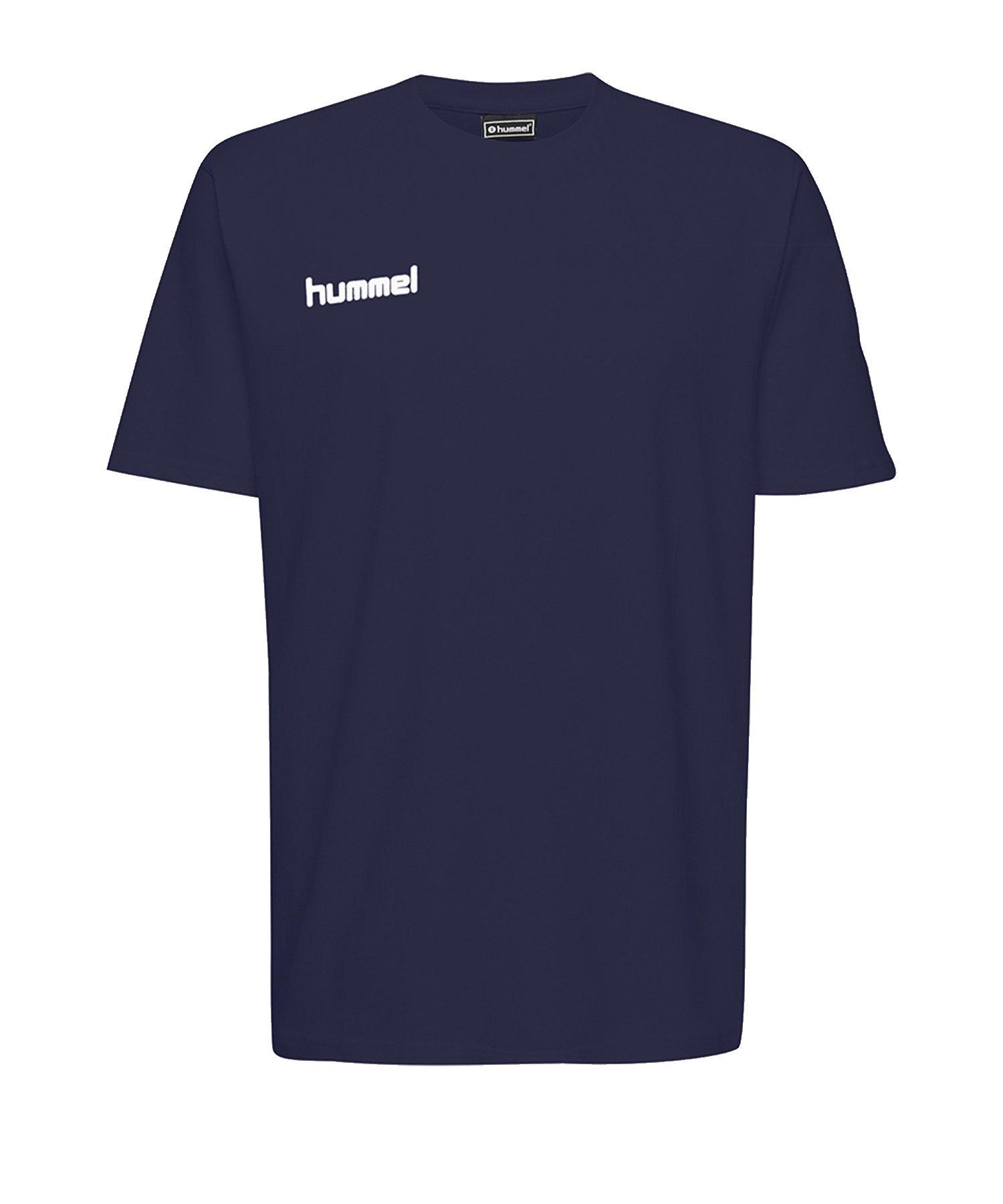 Hummel Cotton T-Shirt Blau F7026 - Blau