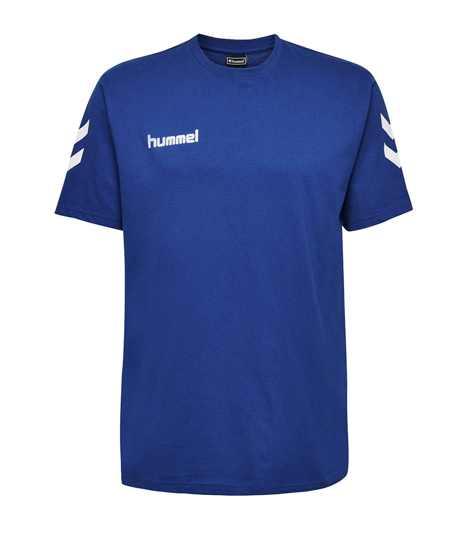 Hummel Cotton T-Shirt Blau F7045 - Blau