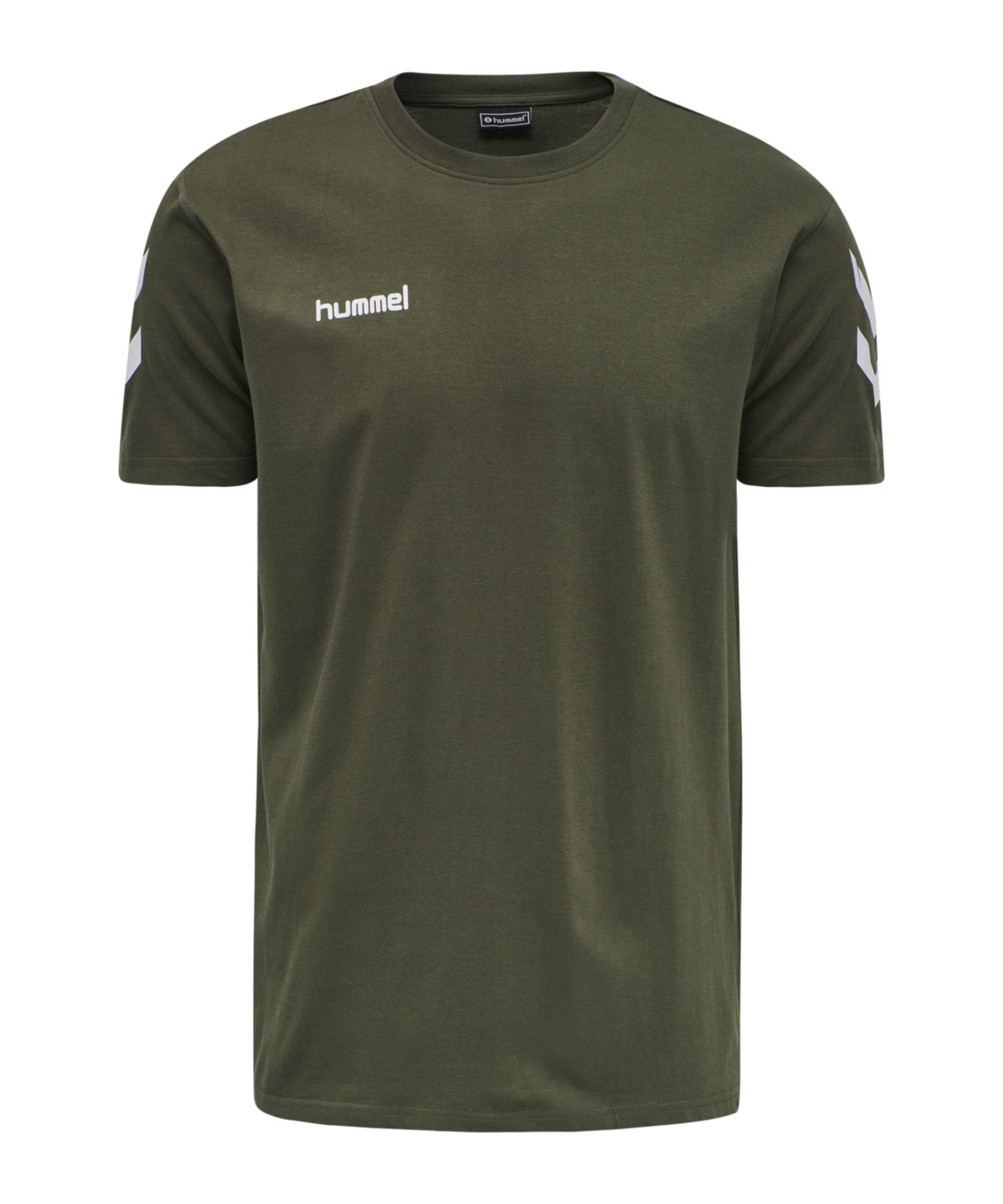 Hummel Cotton T-Shirt Grün F6084 - gruen