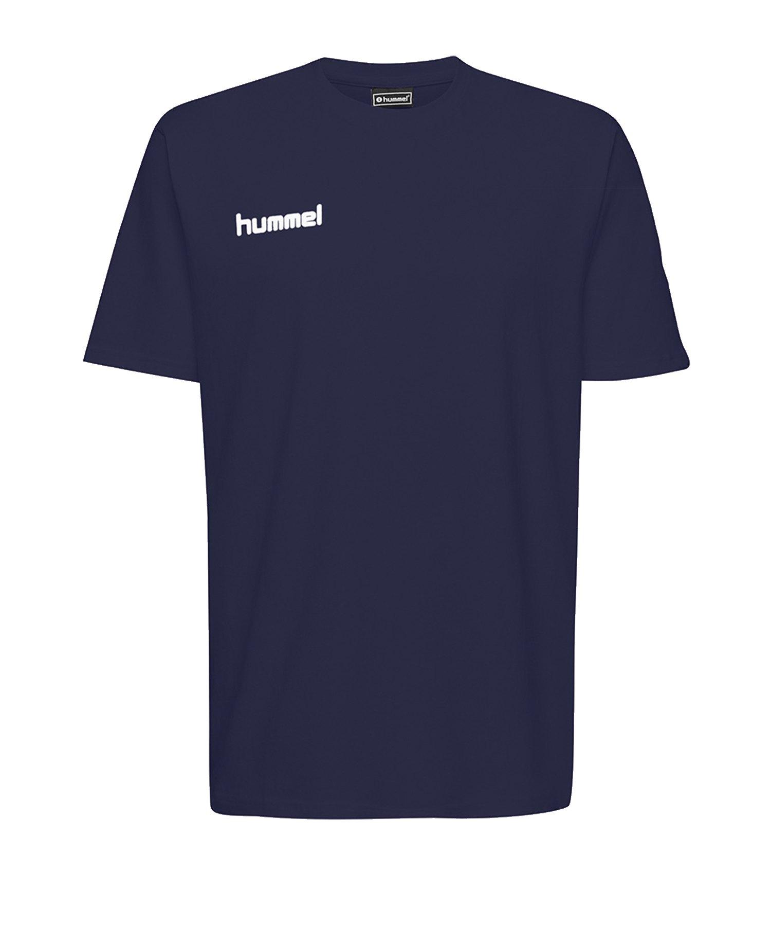 Hummel Cotton T-Shirt Kids Blau F7026 - Blau