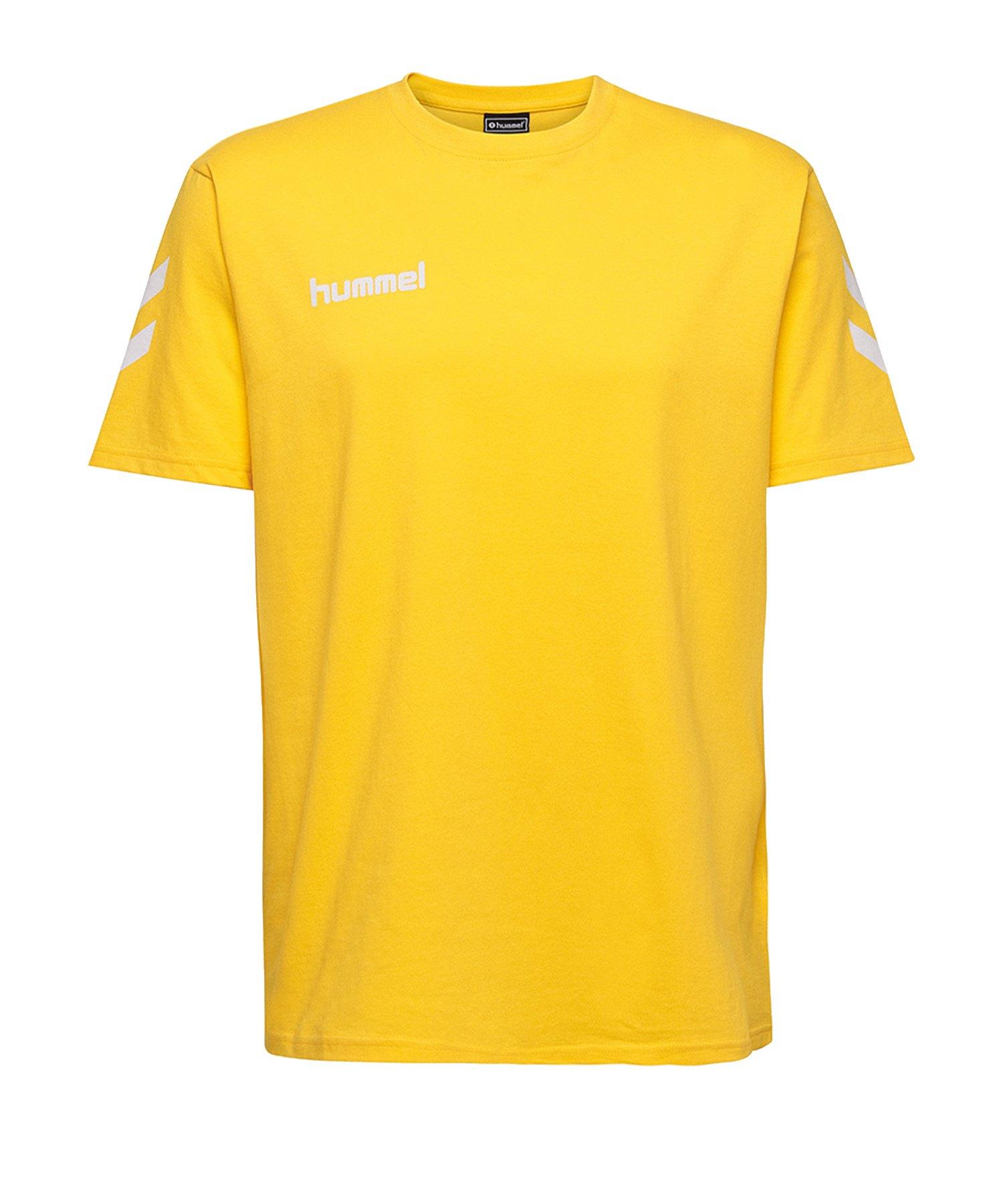 Hummel Cotton T-Shirt Kids Gelb F5001 - Gelb