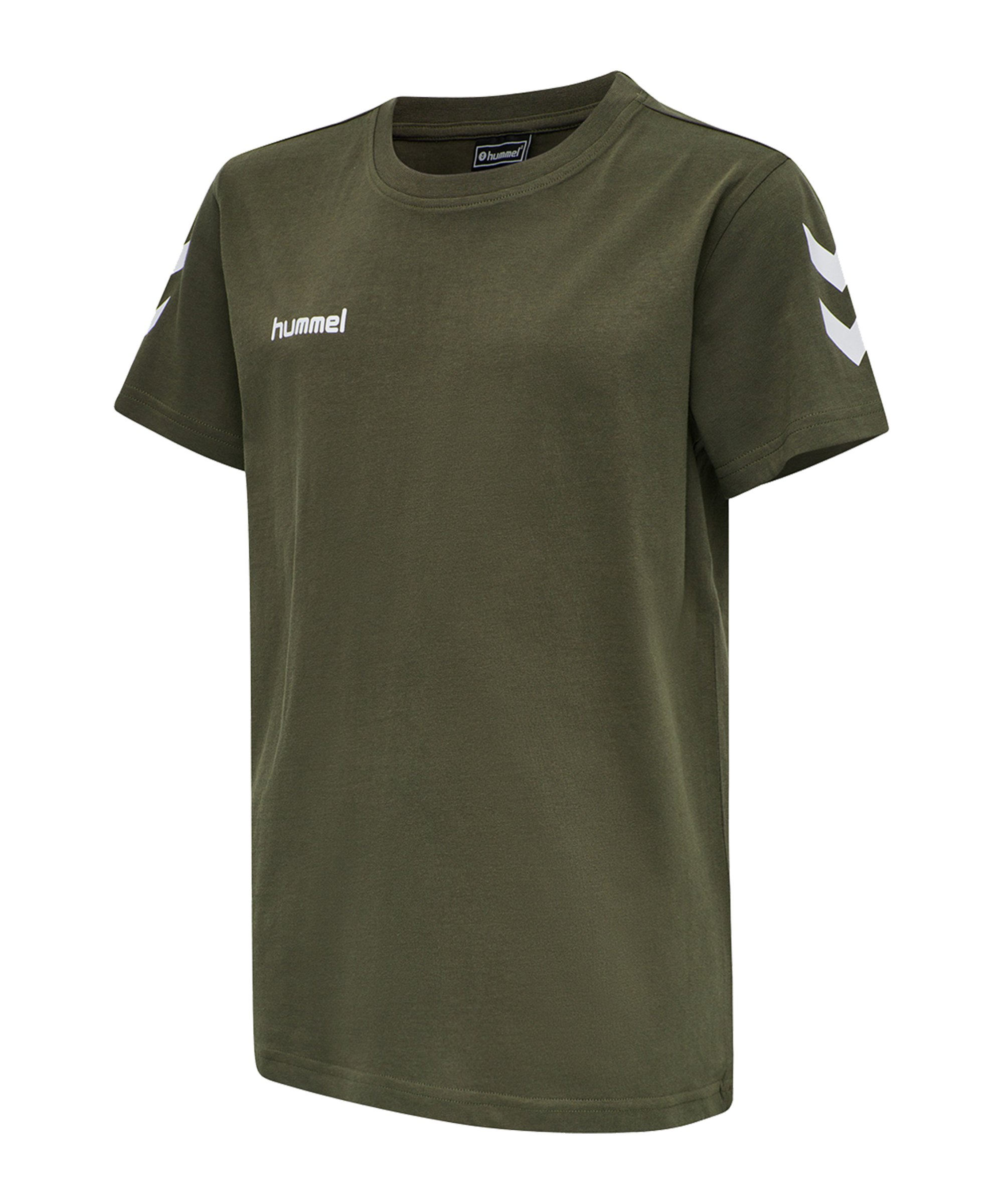 Hummel Cotton T-Shirt Kids Grün F6084 - gruen