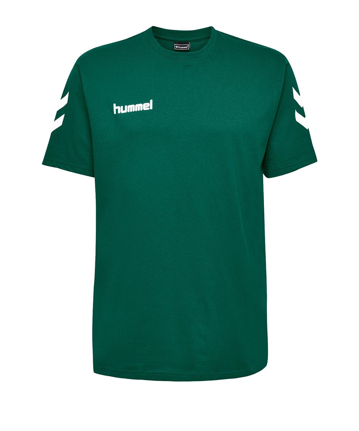 Hummel Cotton T-Shirt Kids Grün F6140 - Gruen
