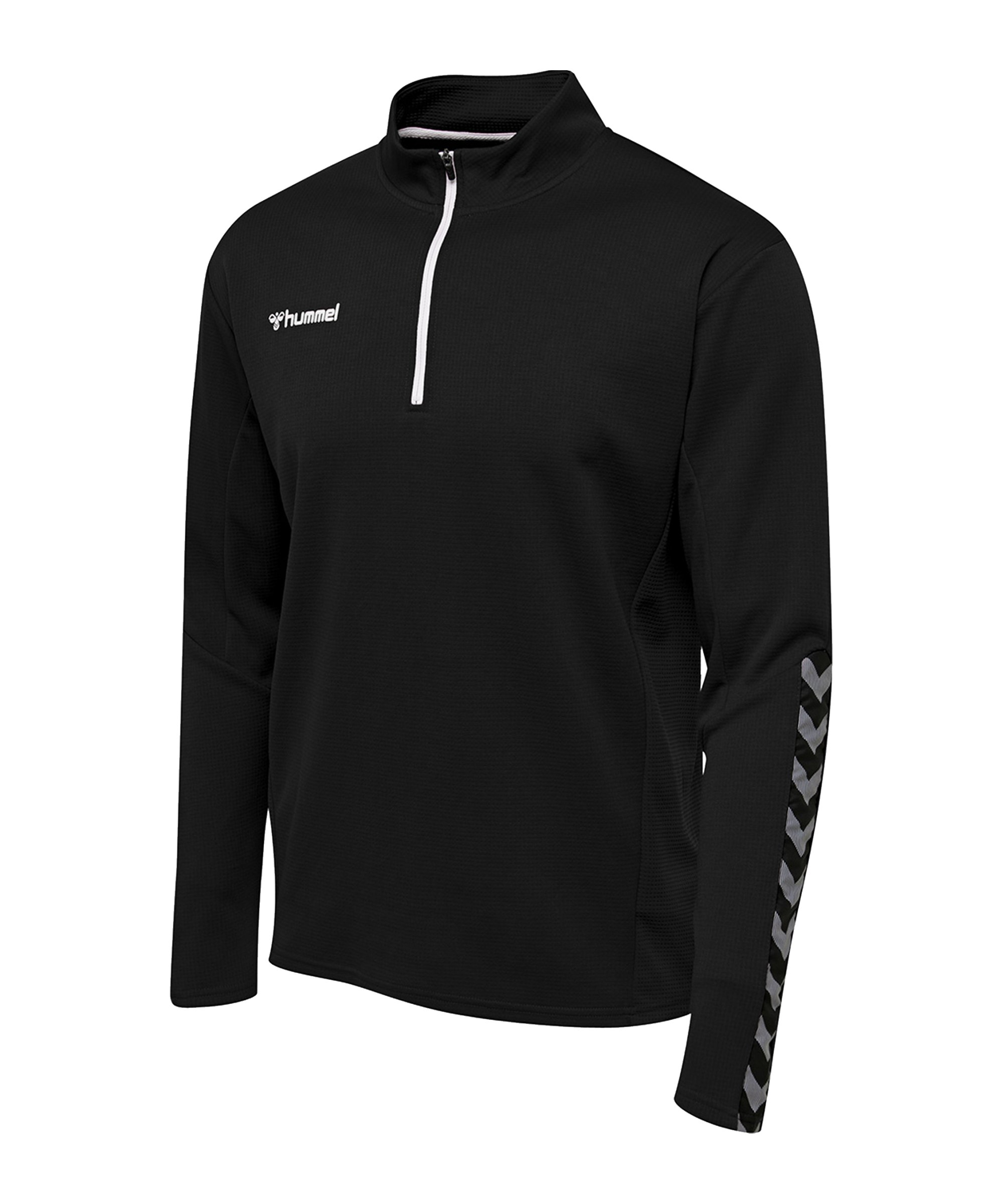 Hummel Authentic 1/2 Zip Sweatshirt Schwarz F2114 - schwarz