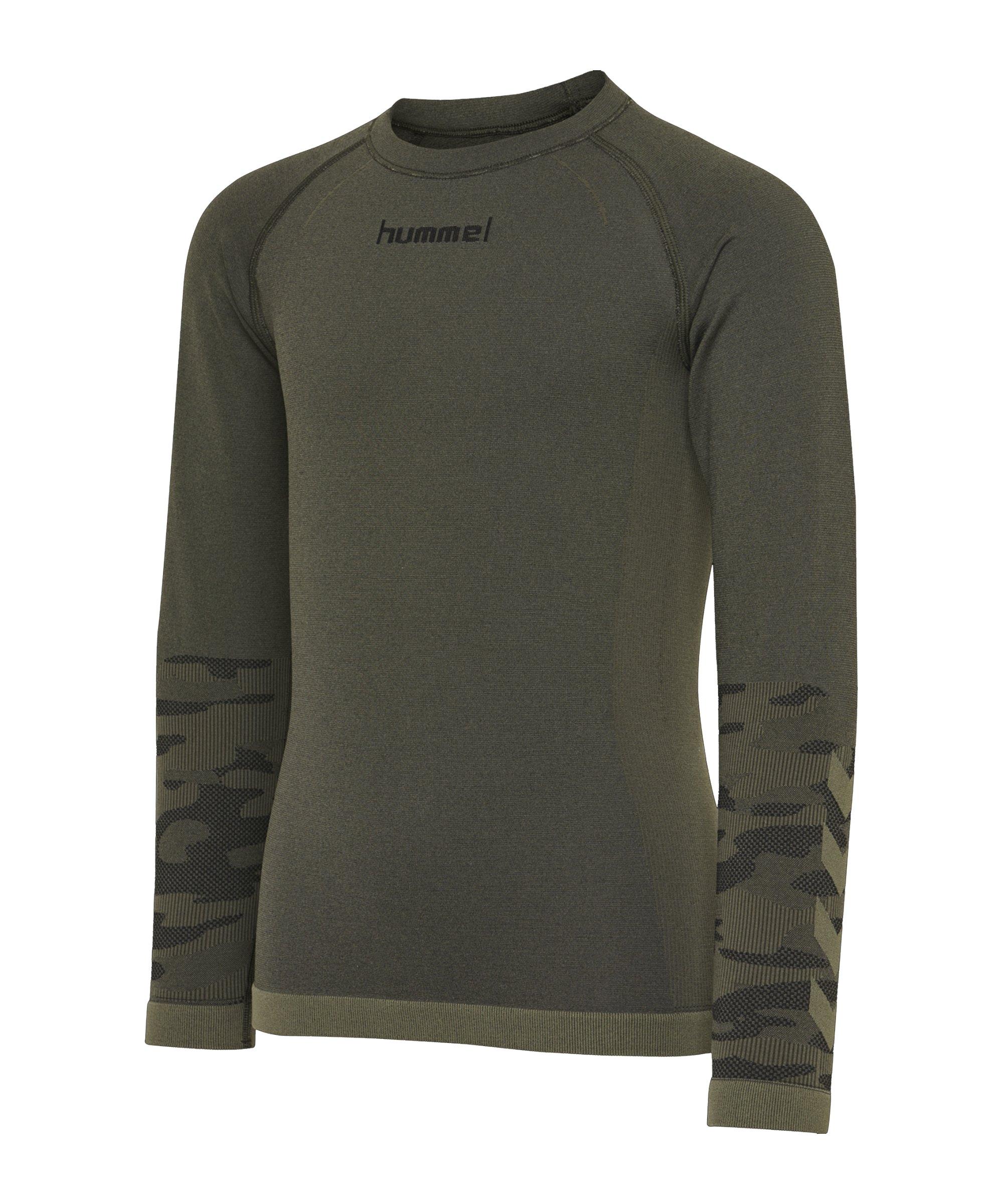 Hummel hmlLUKA Seamless Shirt langarm Kids F6453 - gruen
