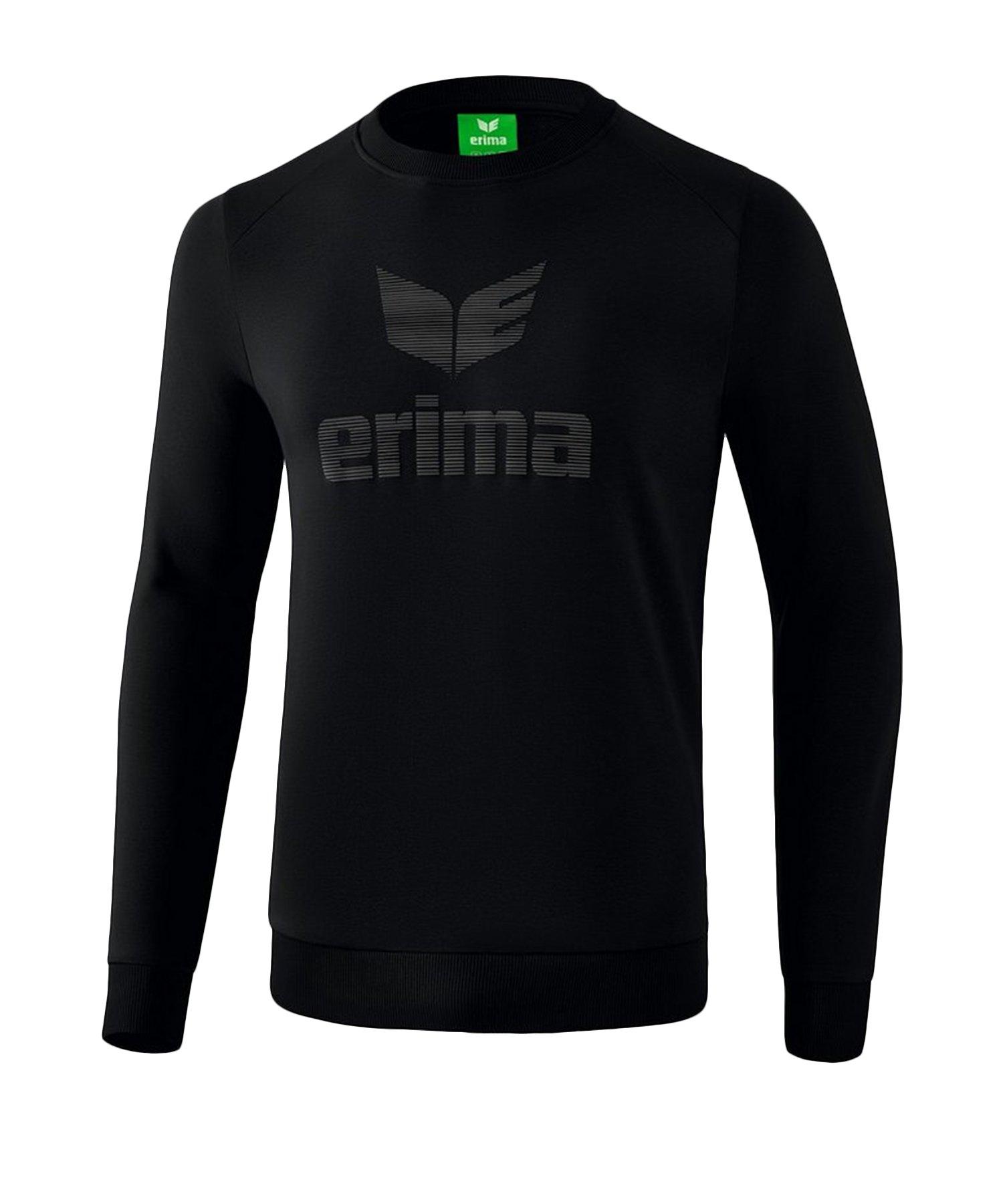 Erima Essential Sweatshirt Kids Schwarz Grau - Schwarz