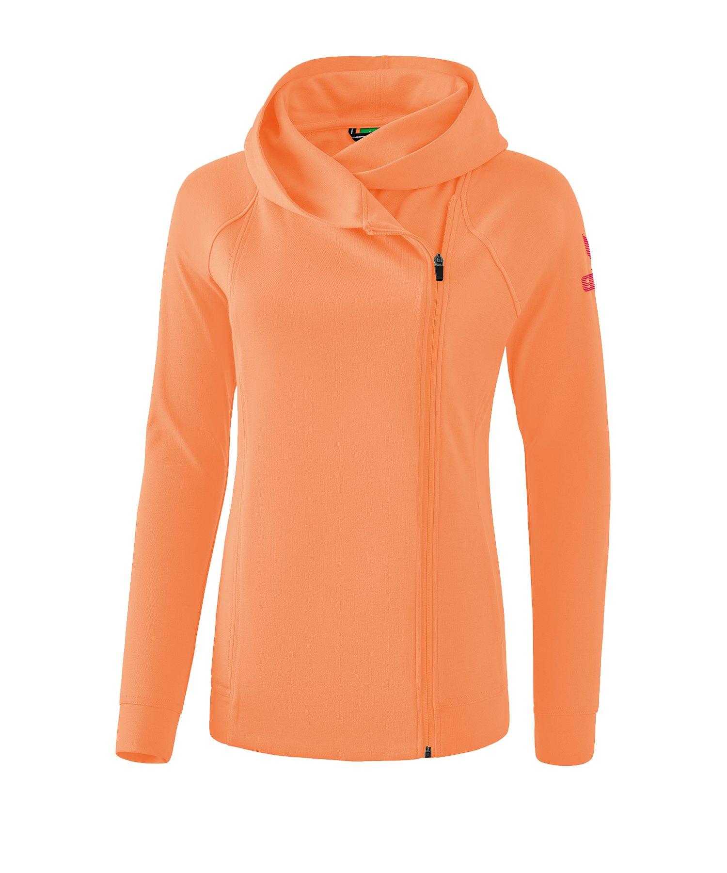 Erima Essential Kapuzensweatjacke Kids Orange - Orange