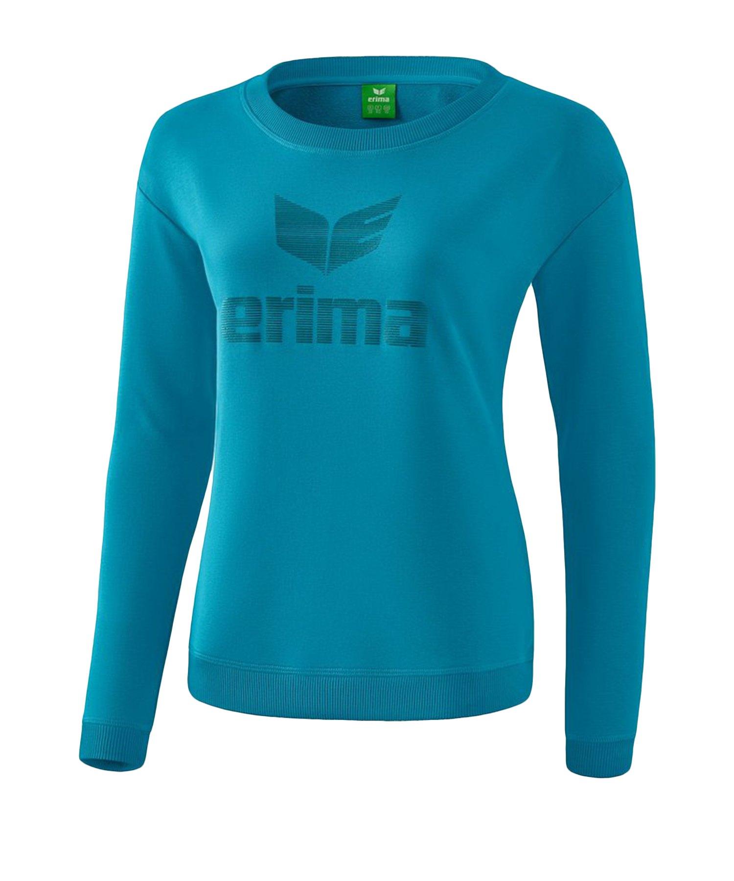 Erima Essential Sweatshirt Damen Blau - Blau