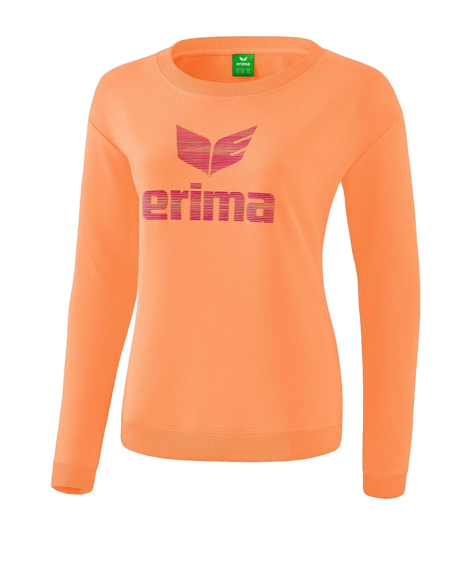 Erima Essential Sweatshirt Damen Orange - Orange