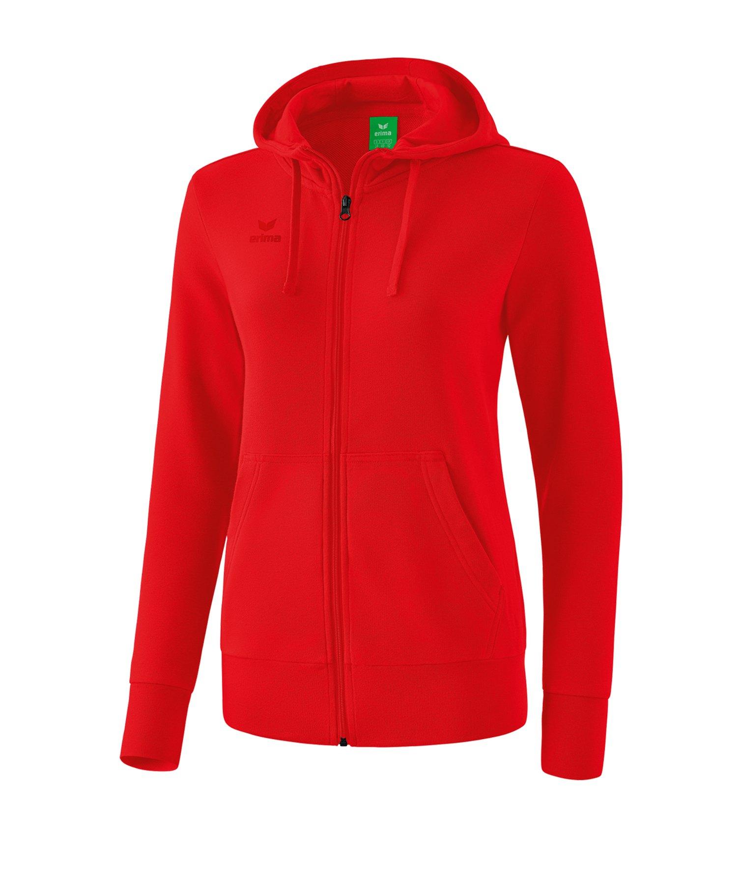 Erima Basic Kapuzenjacke Damen Rot - rot