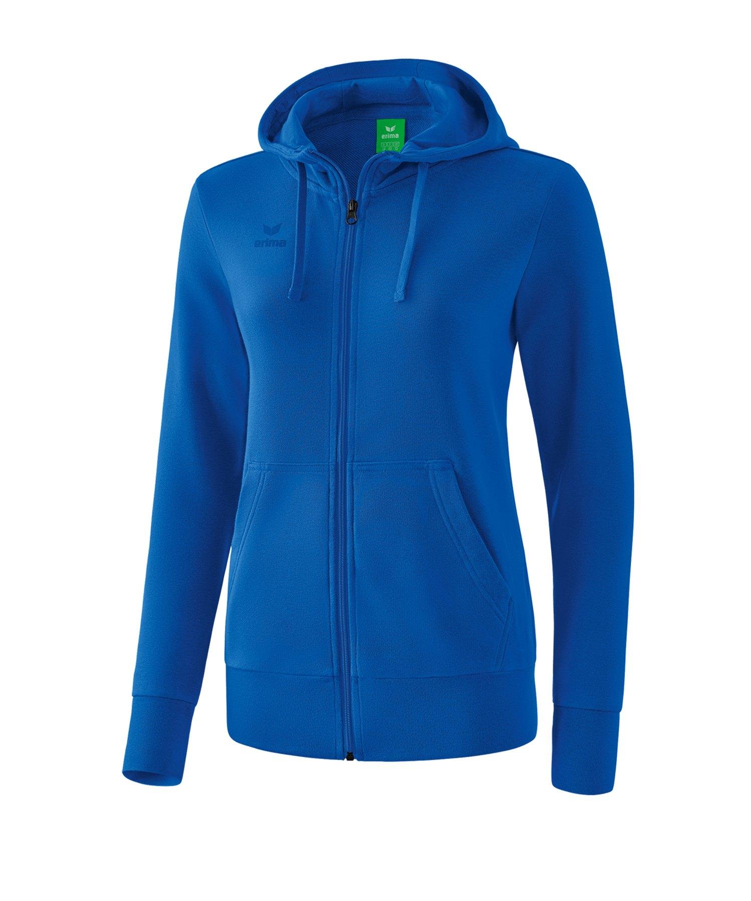 Erima Basic Kapuzenjacke Damen Blau - blau