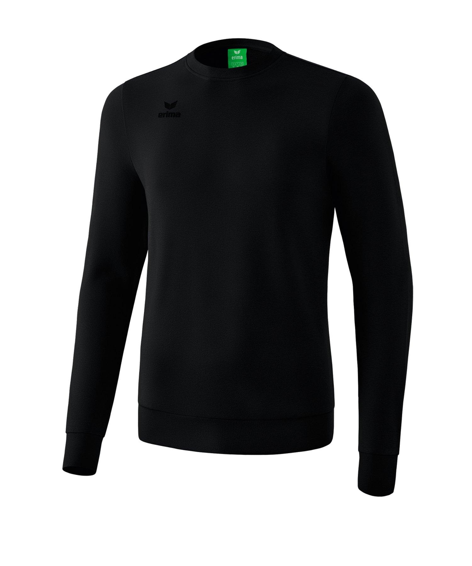 Erima Basic Sweatshirt Schwarz - schwarz