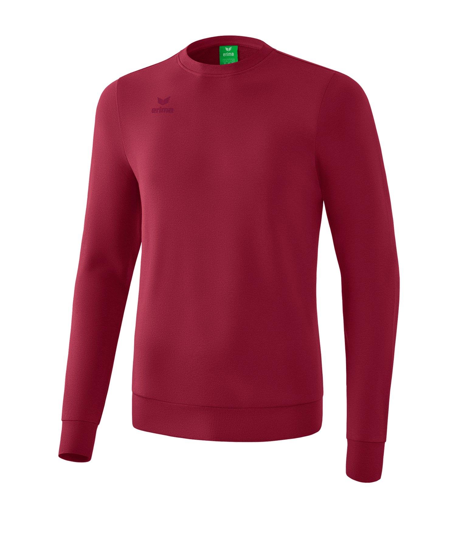 Erima Basic Sweatshirt Kids Dunkelrot - dunkelrot