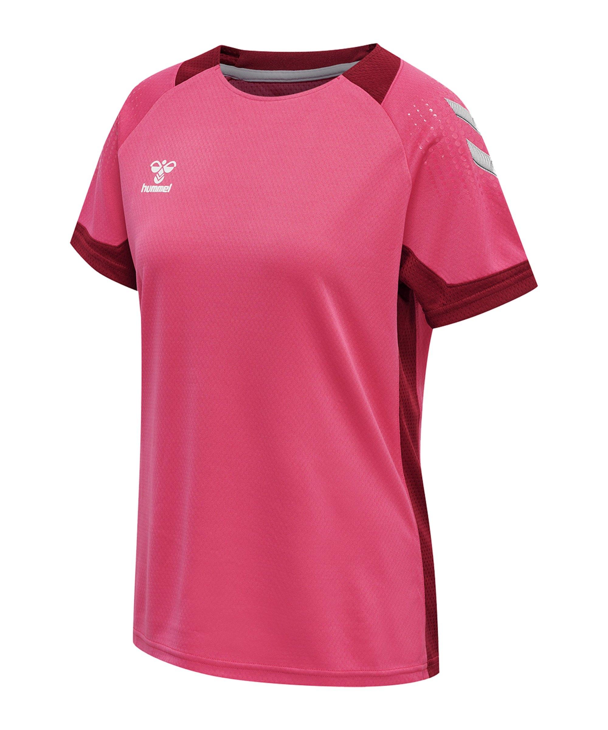 Hummel hmlLEAD Trainingsshirt Damen Pink F3576 - pink